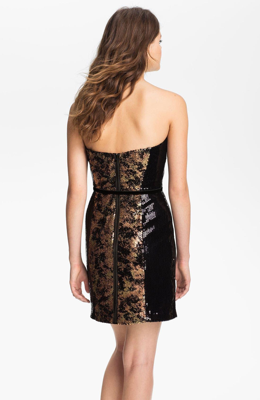 Alternate Image 2  - Jessica Simpson Strapless Sequin Sheath Dress