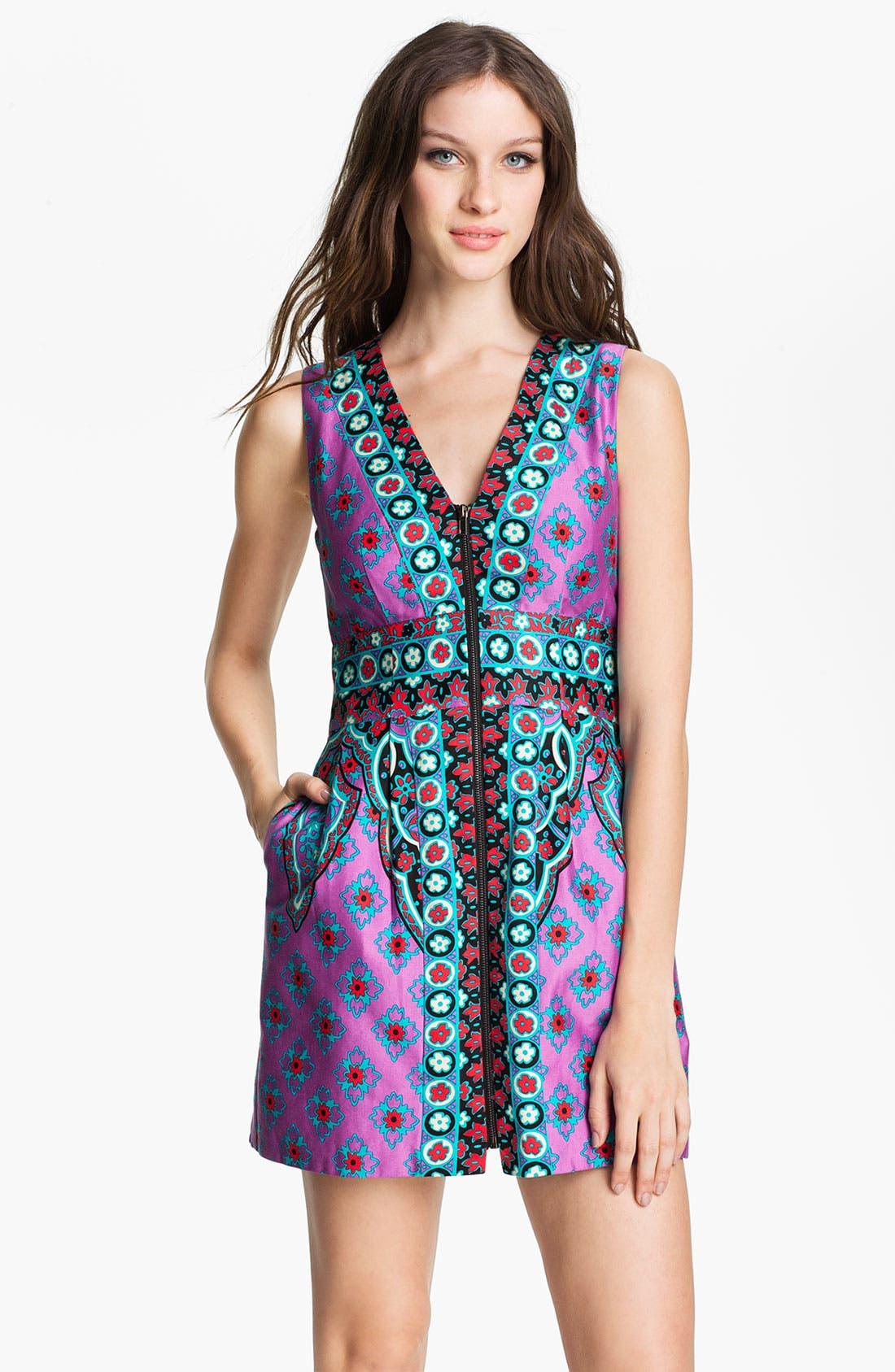 Alternate Image 1 Selected - Nanette Lepore 'Funkadelic' Stretch Cotton Sheath Dress