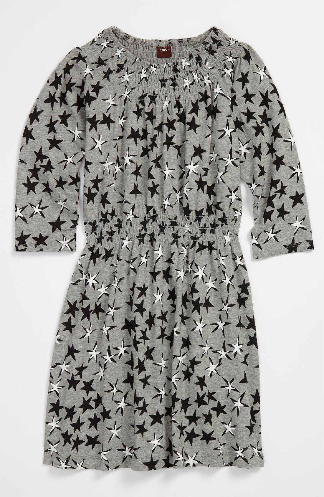 Alternate Image 1 Selected - Tea Collection 'Superstar' Smocked Dress (Little Girls & Big Girls)
