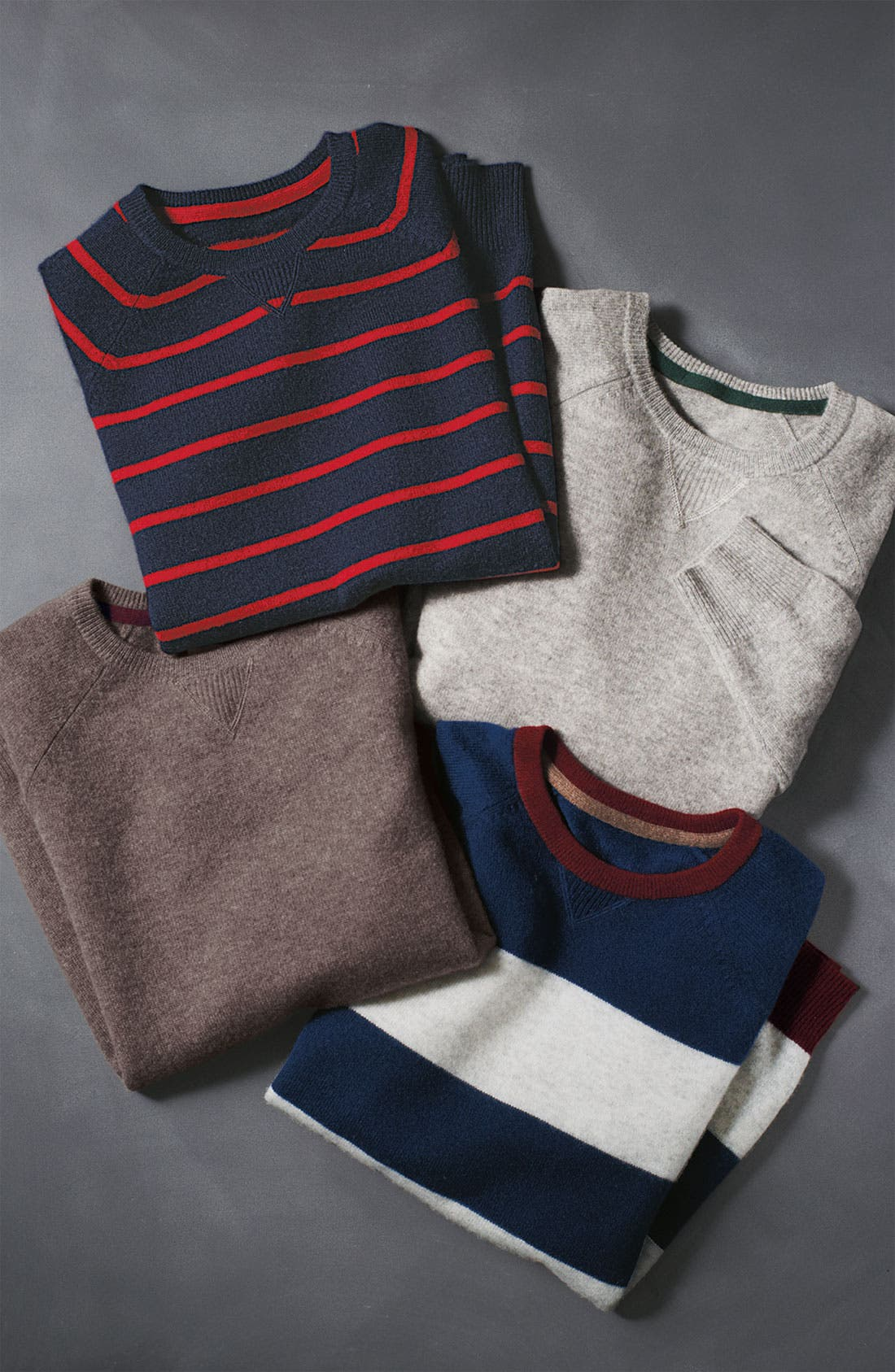 Alternate Image 2  - 1901 Stripe Cashmere Sweater