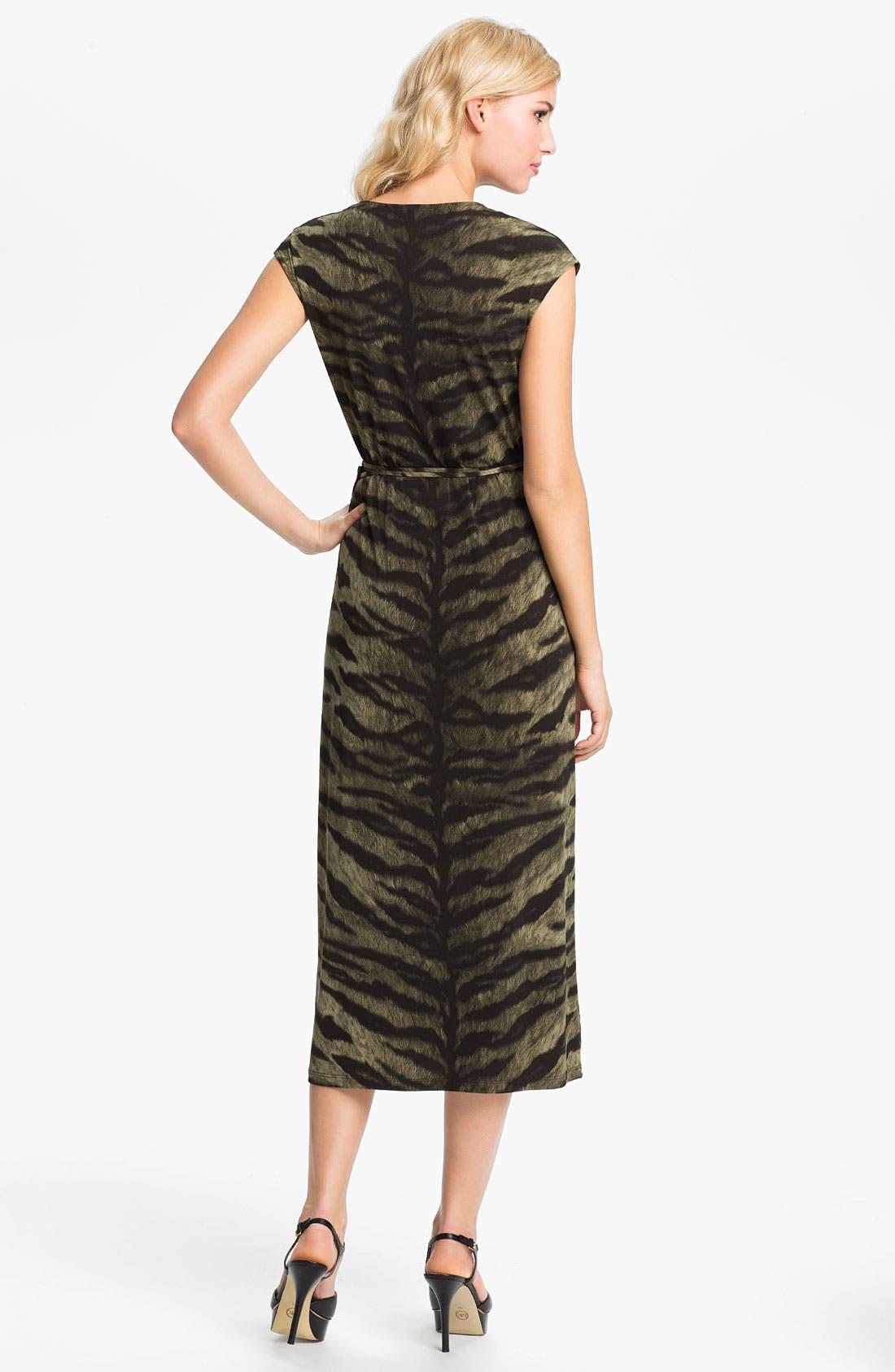 Alternate Image 2  - MICHAEL Michael Kors Tiger Print Wrap Dress