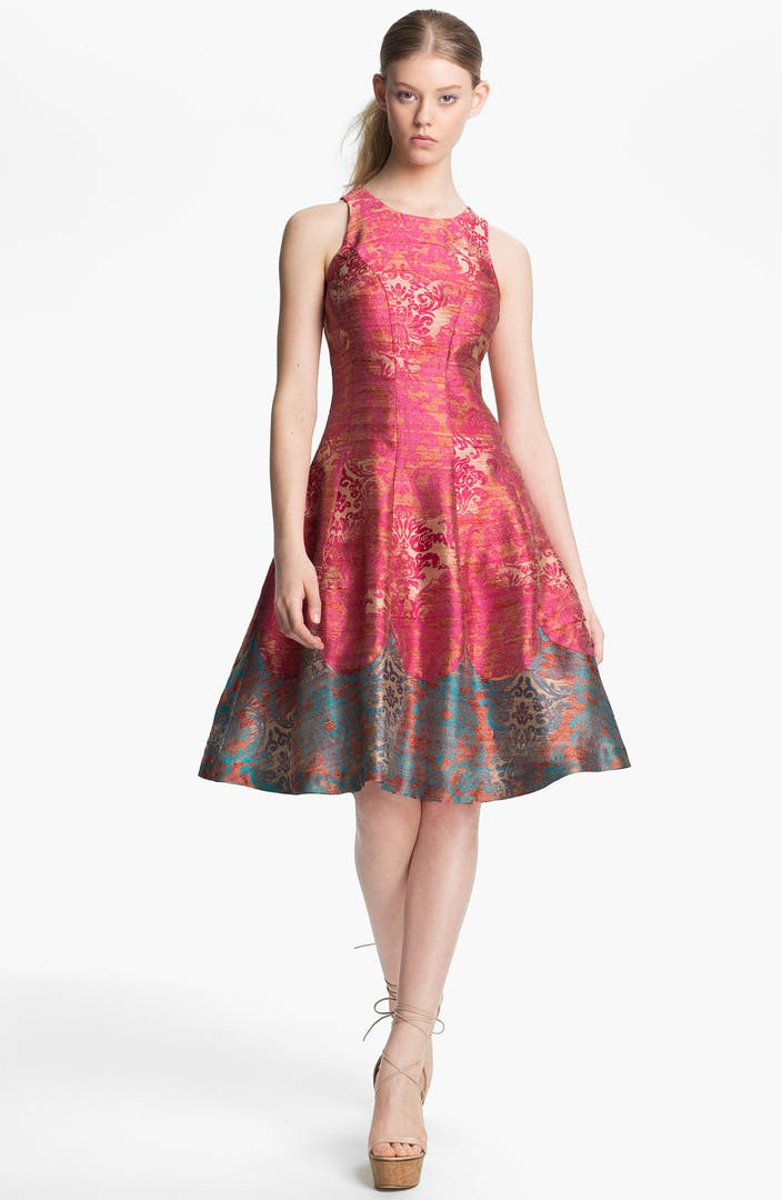 Tracy Reese Michelle Jacquard Fit Amp Flare Dress Nordstrom