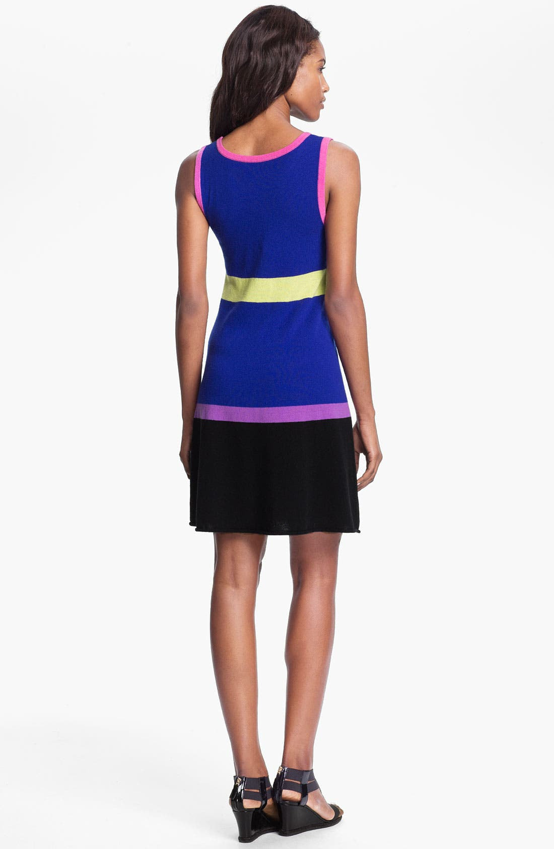 Alternate Image 2  - autumn cashmere Colorblock Flared Tank Dress