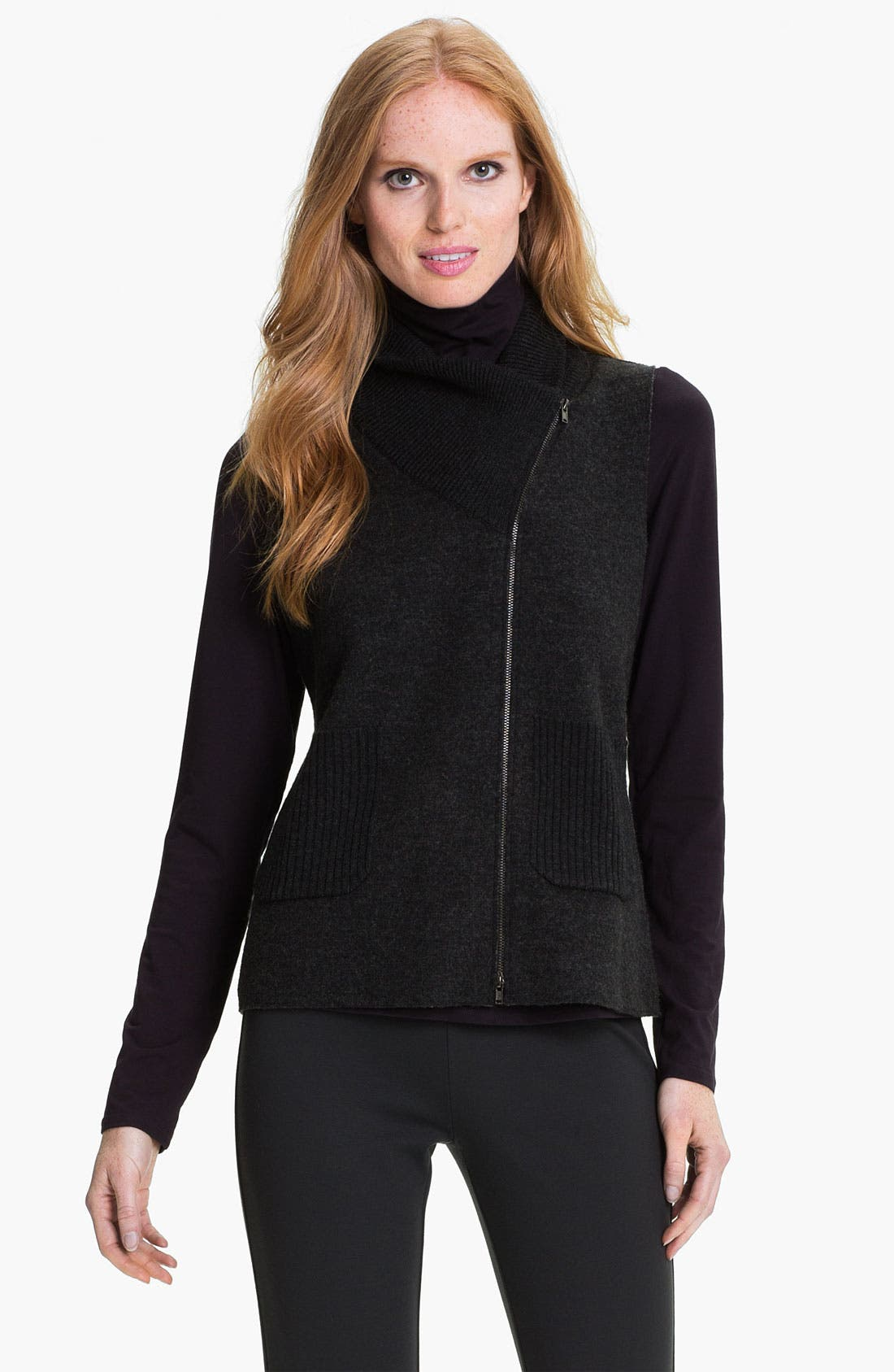 Main Image - Eileen Fisher Felted Merino Double Knit Vest