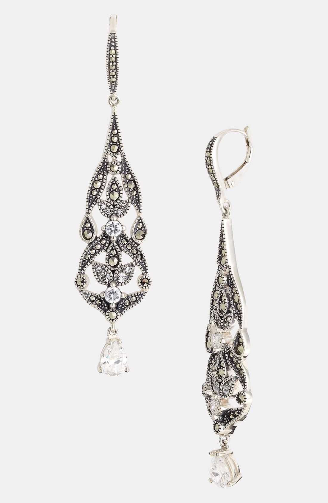Main Image - Judith Jack 'Glamour' Linear Earrings