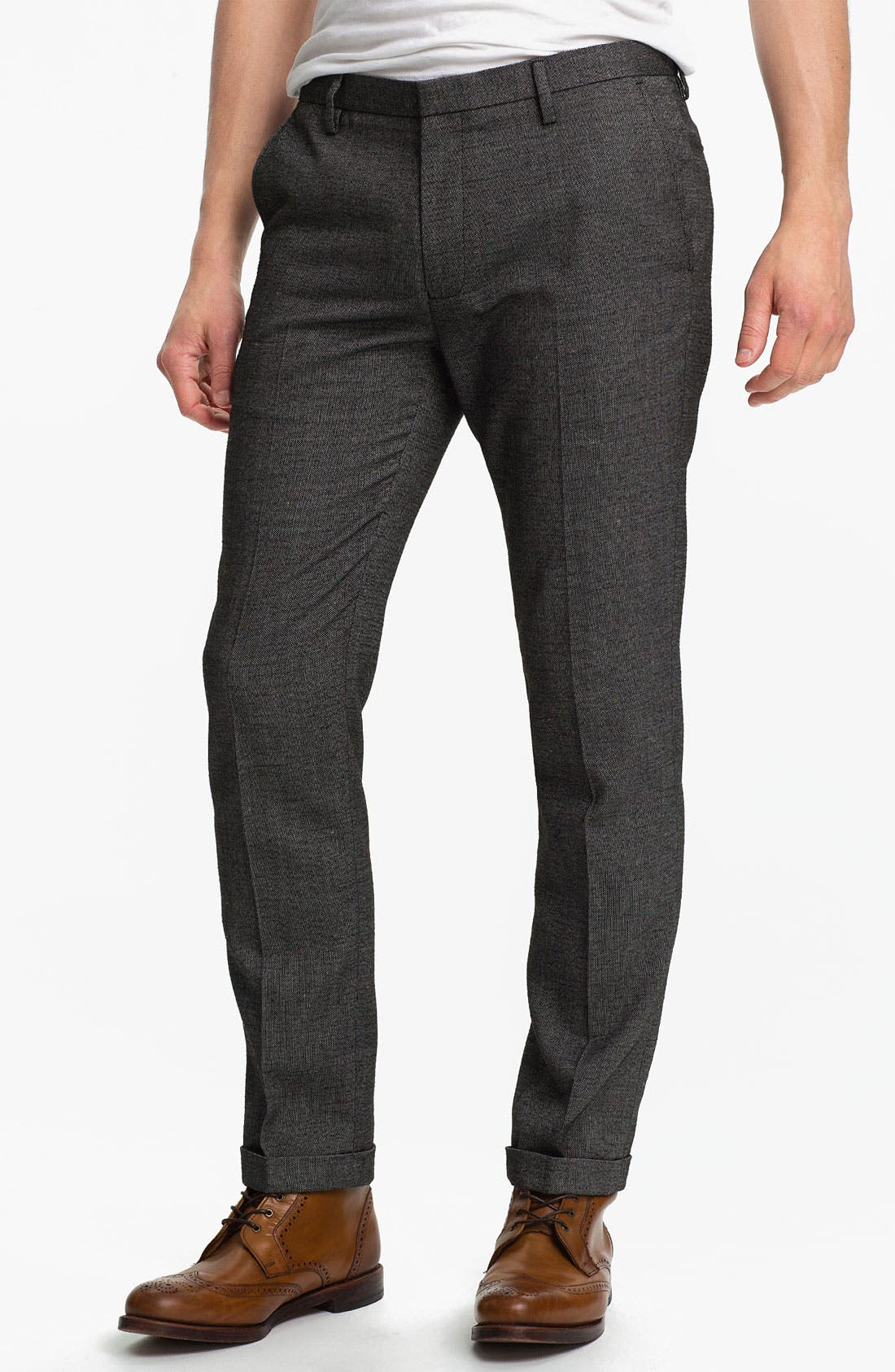 Alternate Image 1 Selected - Topman Fleck Skinny Fit Trousers