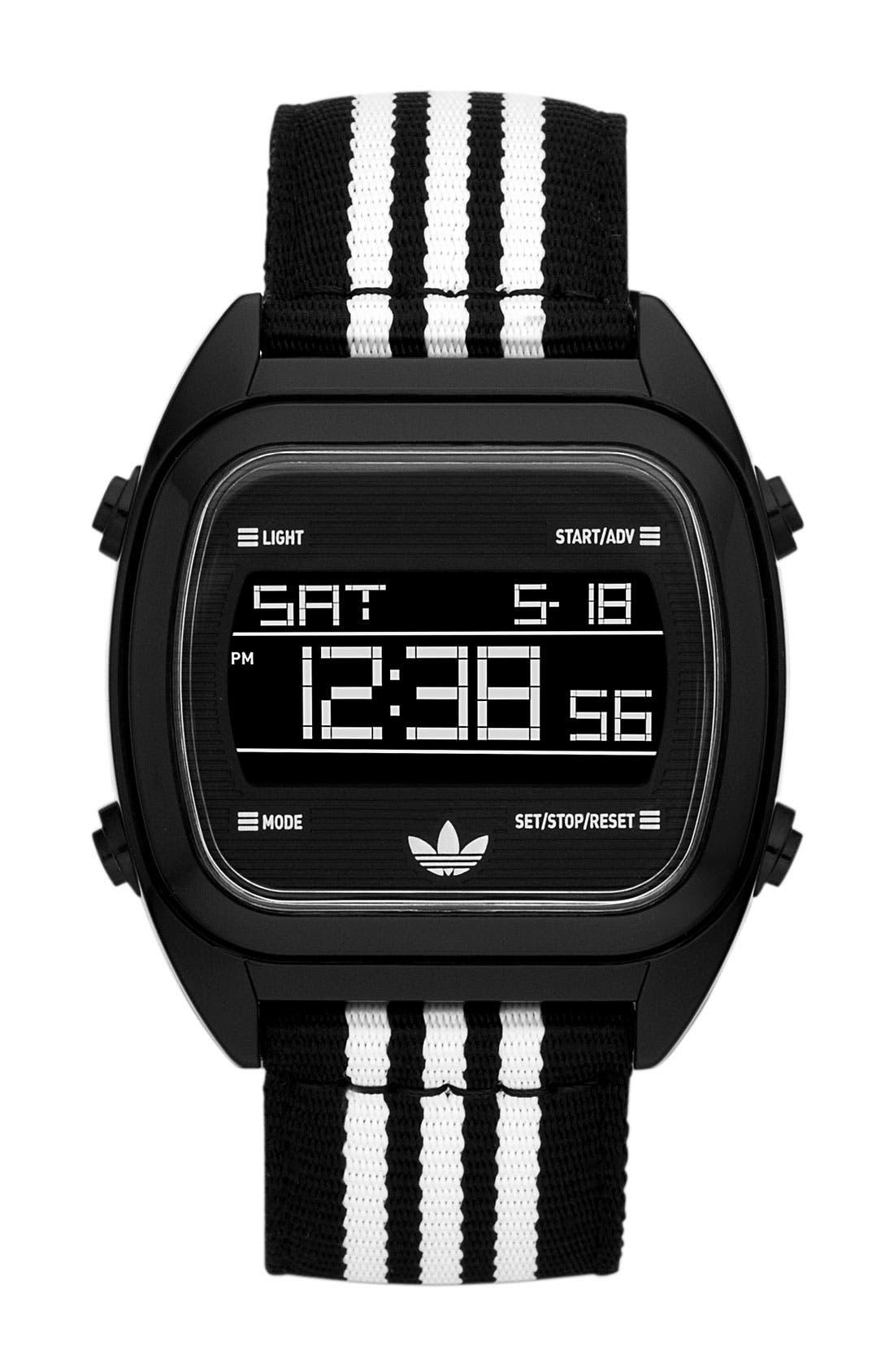 Alternate Image 1 Selected - adidas Originals 'Sydney' Digital Nylon Strap Watch
