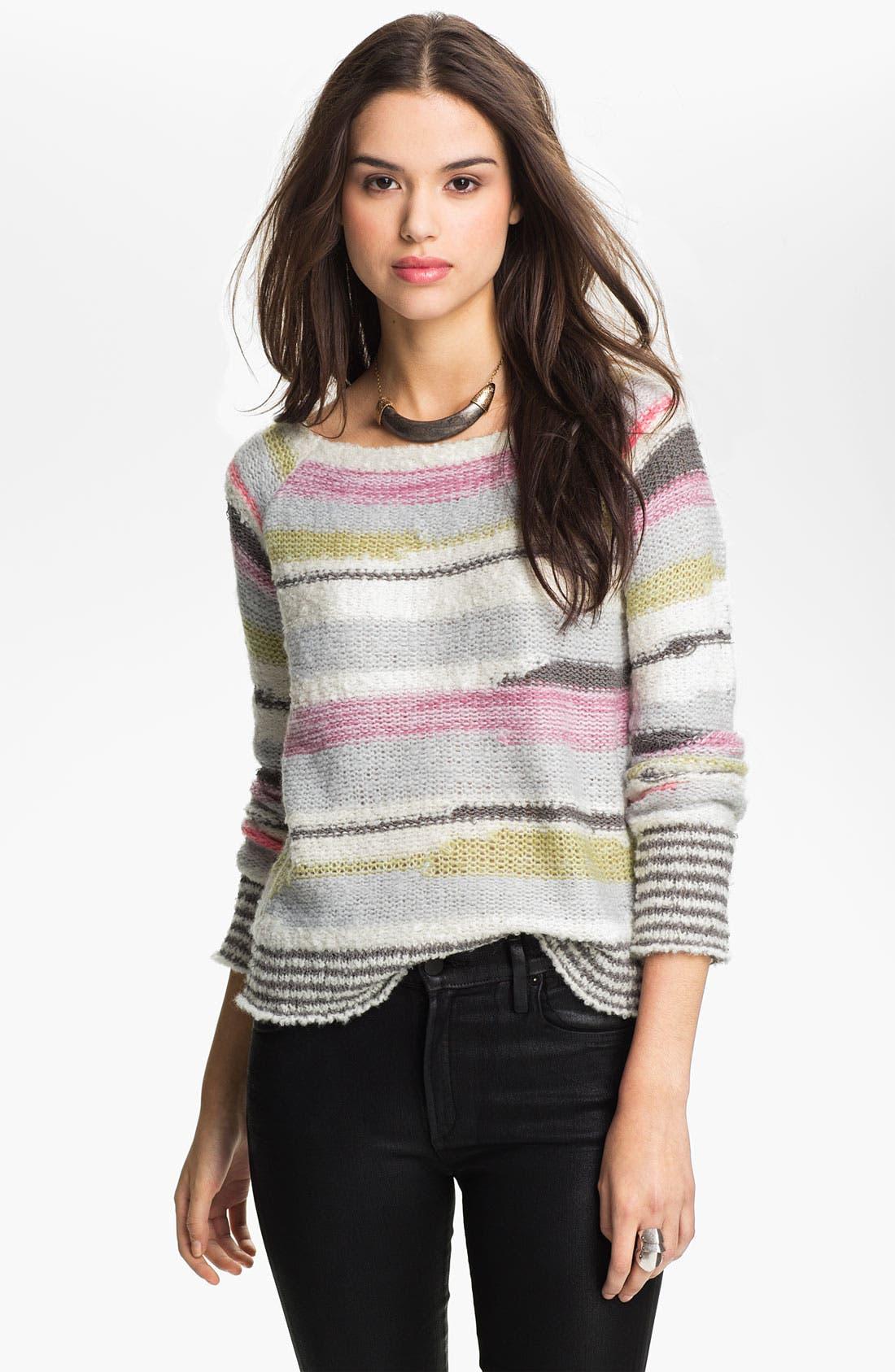 Alternate Image 1 Selected - Free People 'Montmartre' Stripe Sweater