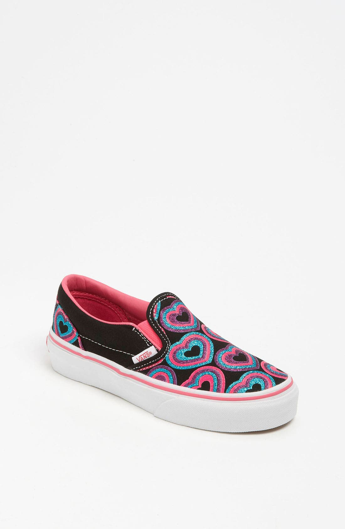 Main Image - Vans 'Classic - Glitter Hearts' Slip-On (Toddler, Little Kid & Big Kid)