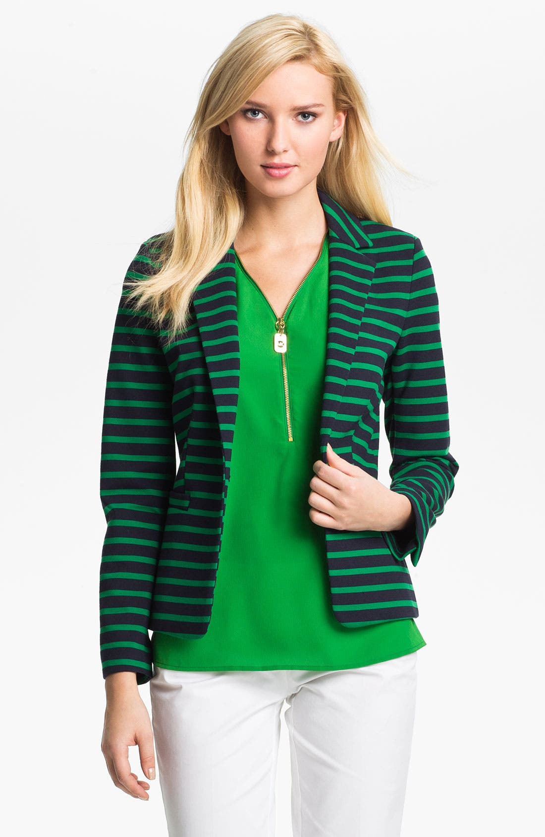 Alternate Image 1 Selected - MICHAEL Michael Kors 'Lobamba' Ponte Blazer