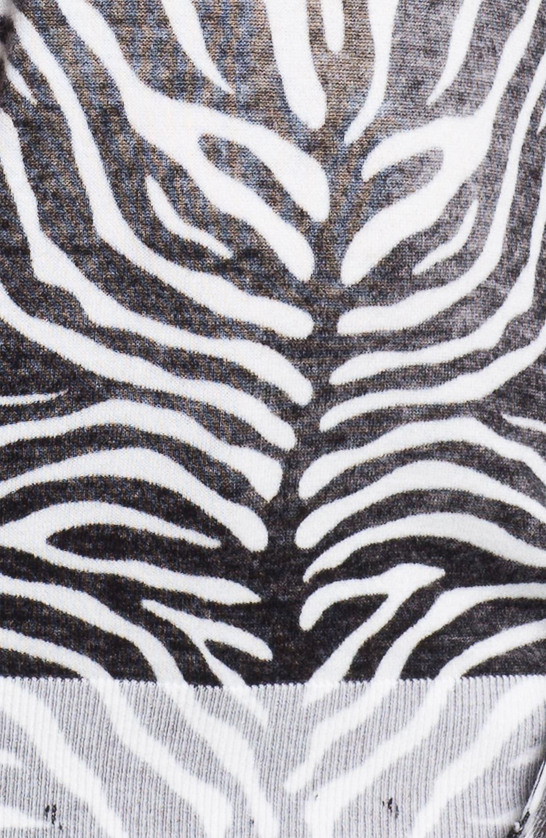 Alternate Image 3  - MICHAEL Michael Kors Zebra Print V-Neck Sweater