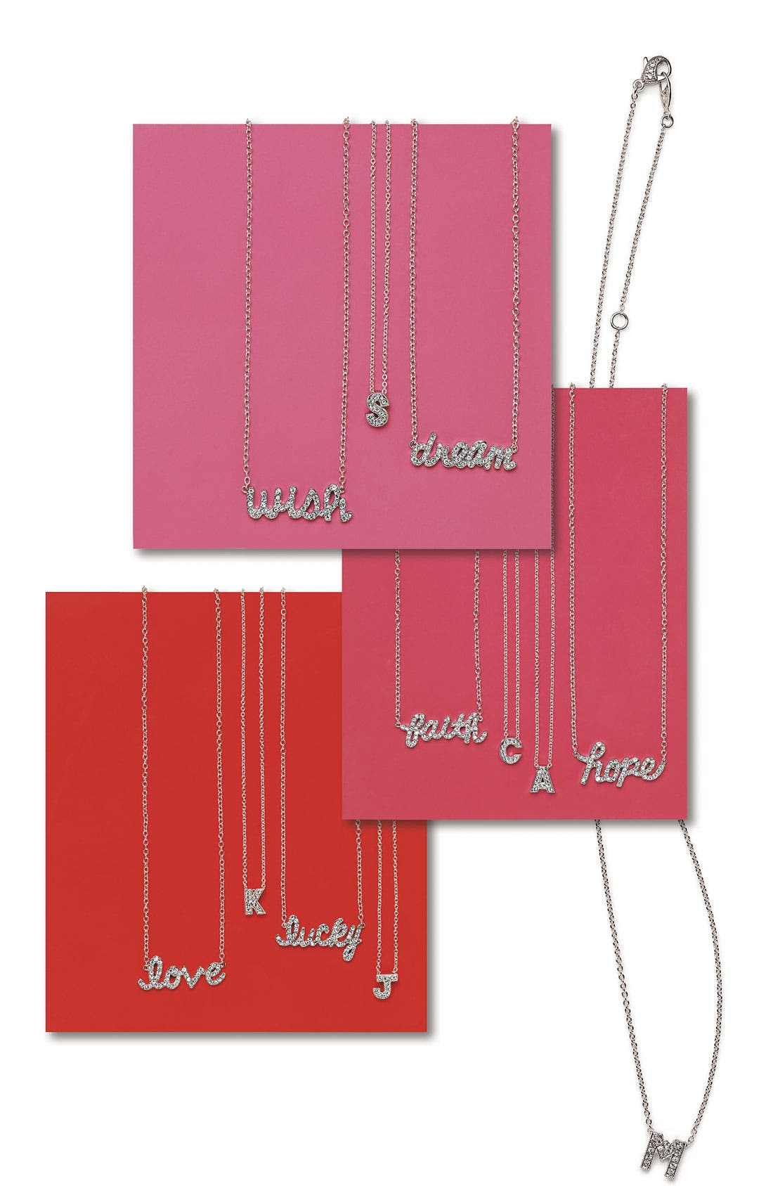 Alternate Image 4  - Ariella Collection 'Messages - Love' Script Pendant Necklace