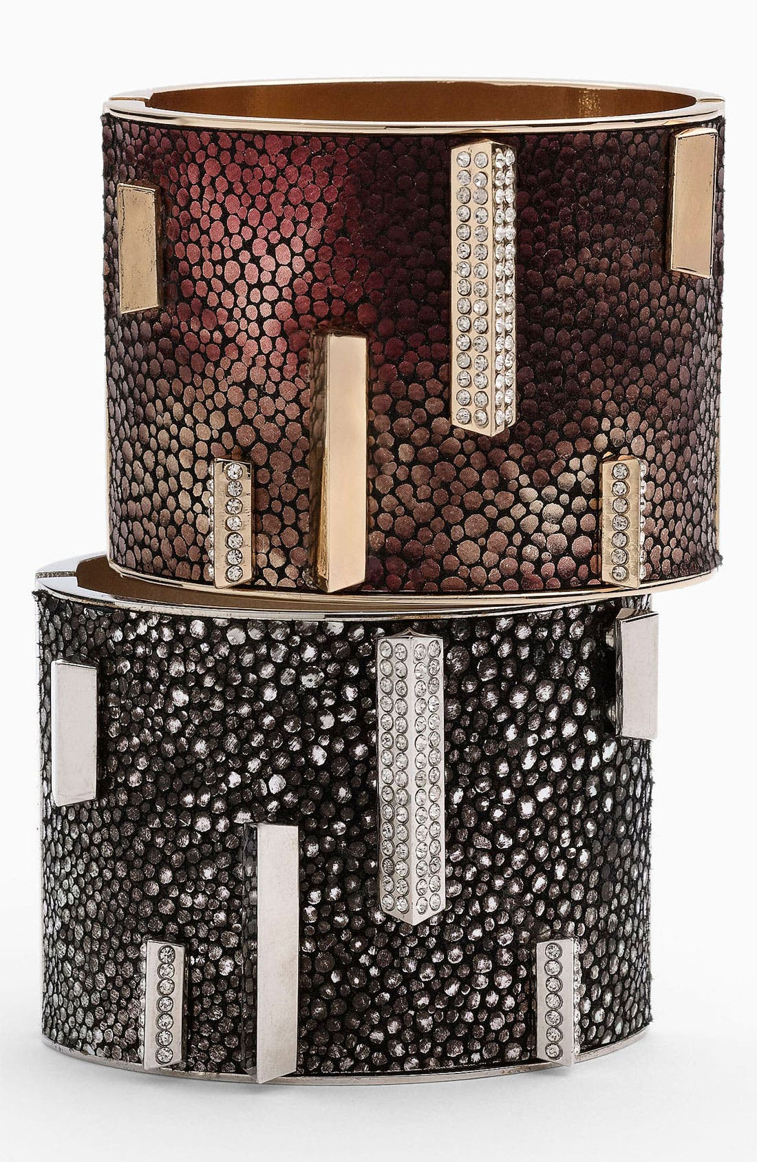 Alternate Image 1 Selected - Vince Camuto Leather Hinged Bangle