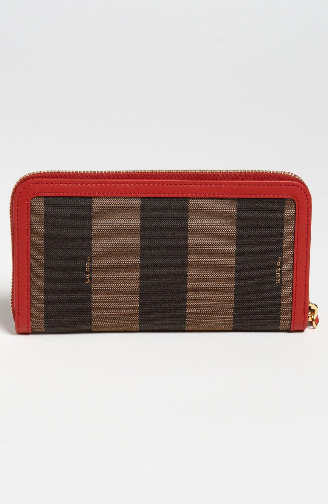 Alternate Image 4  - Fendi 'Pequin' Zip Around Wallet