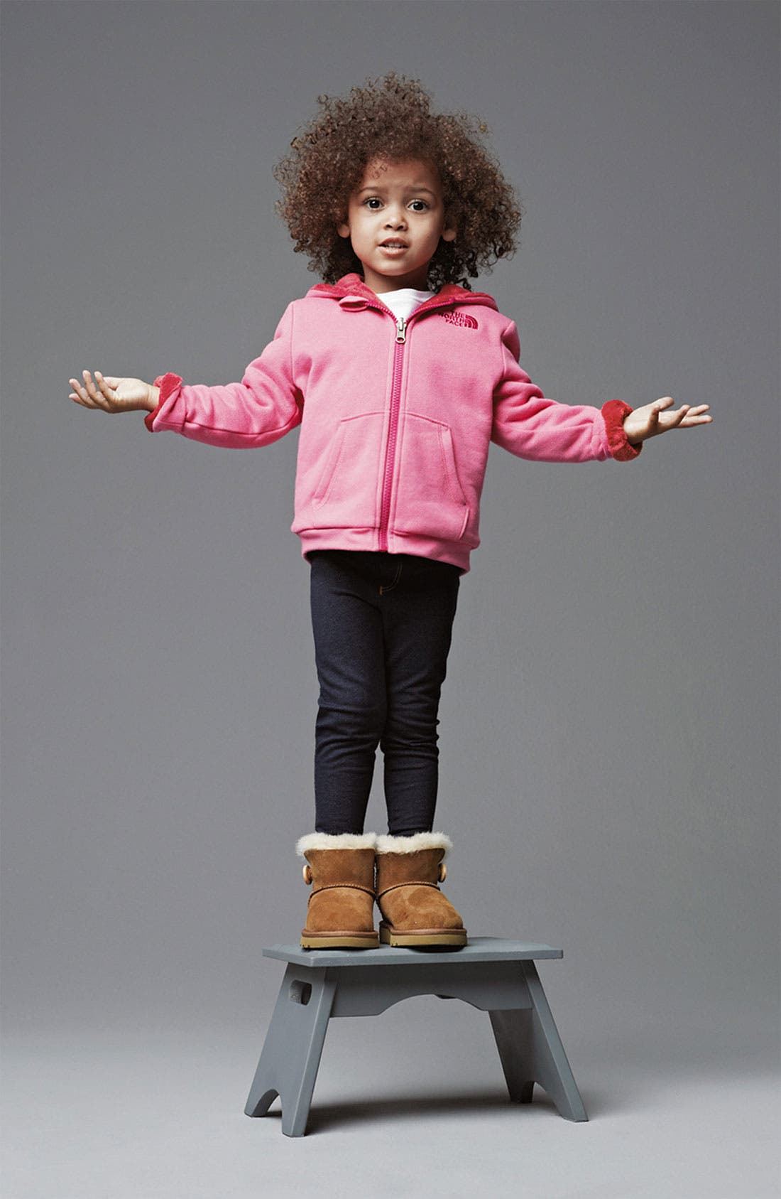 Main Image - The North Face Hoodie & True Religion Brand Jeans Skinny Jeans (Toddler)
