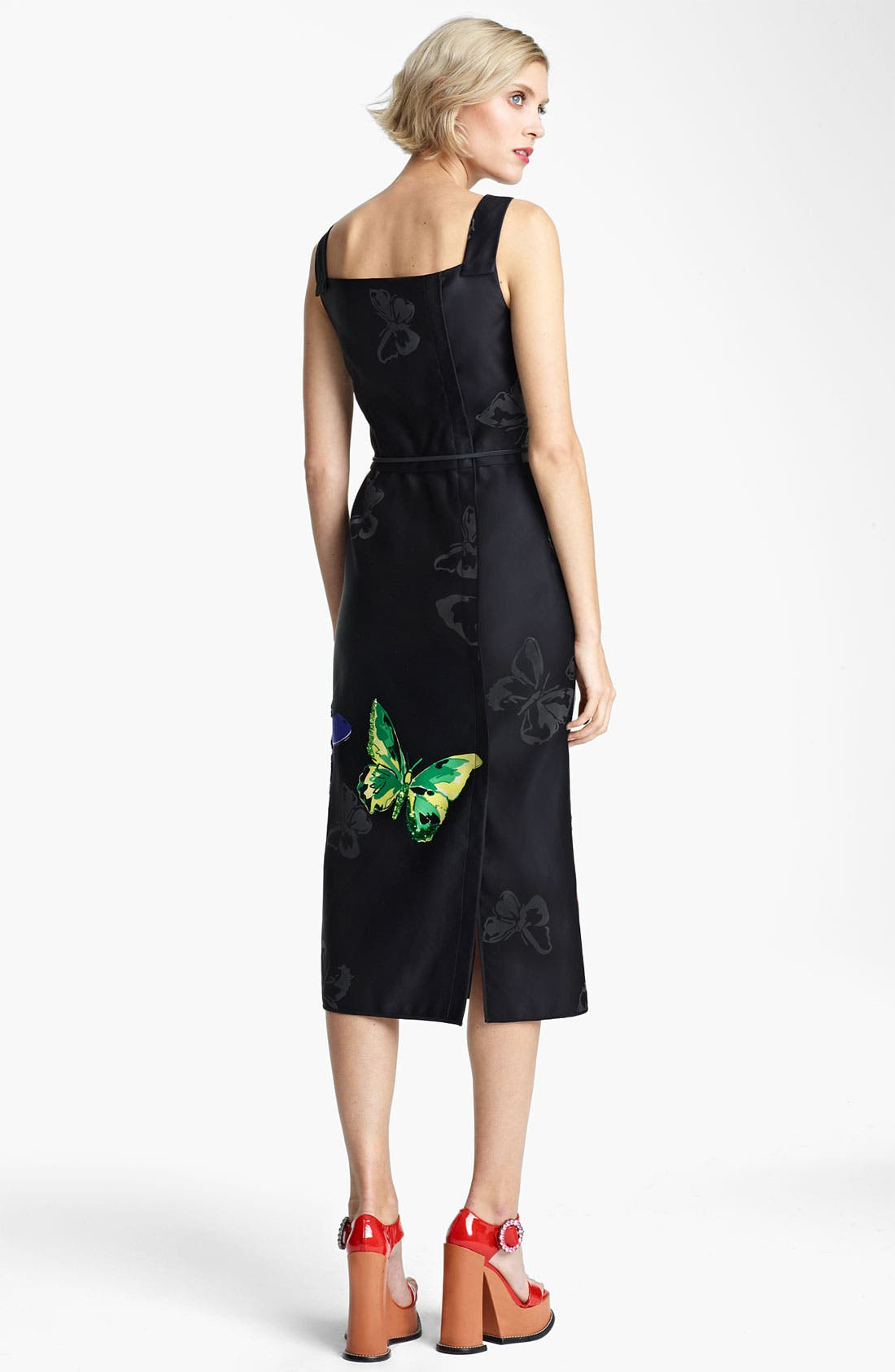 Alternate Image 2  - MARC JACOBS Belted Butterfly Print Dress