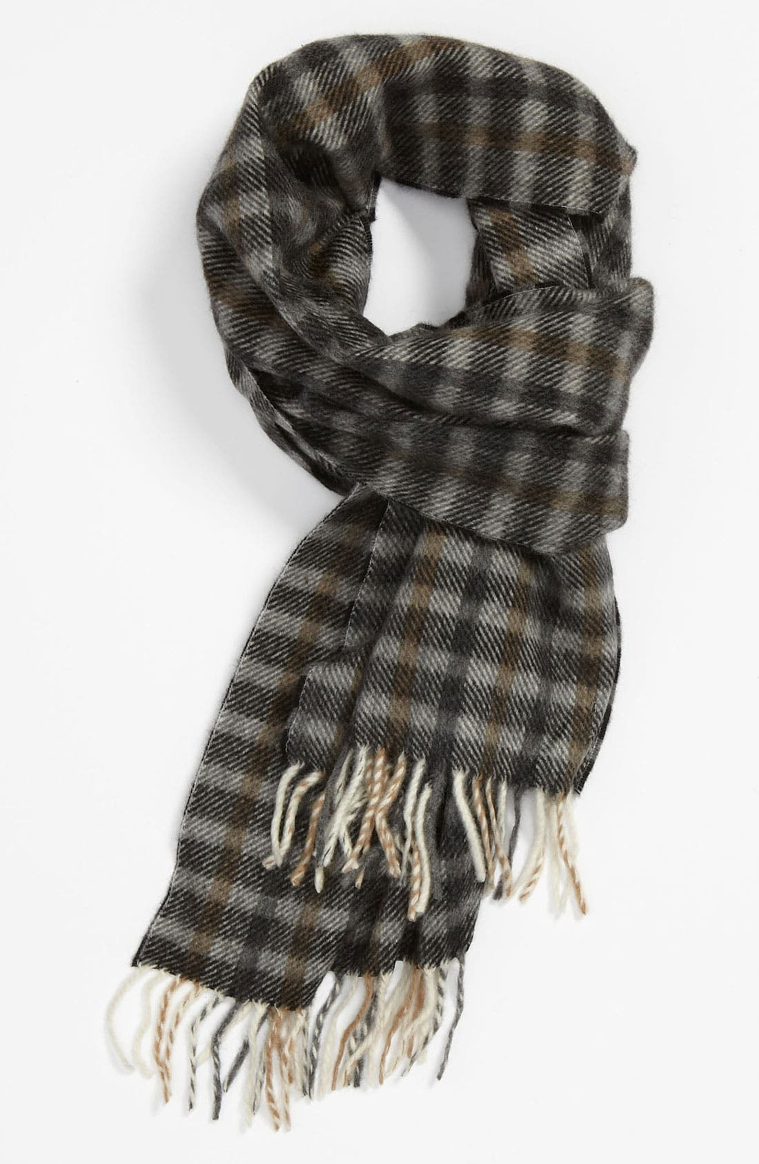Main Image - Chelsey Plaid Cashmere Scarf