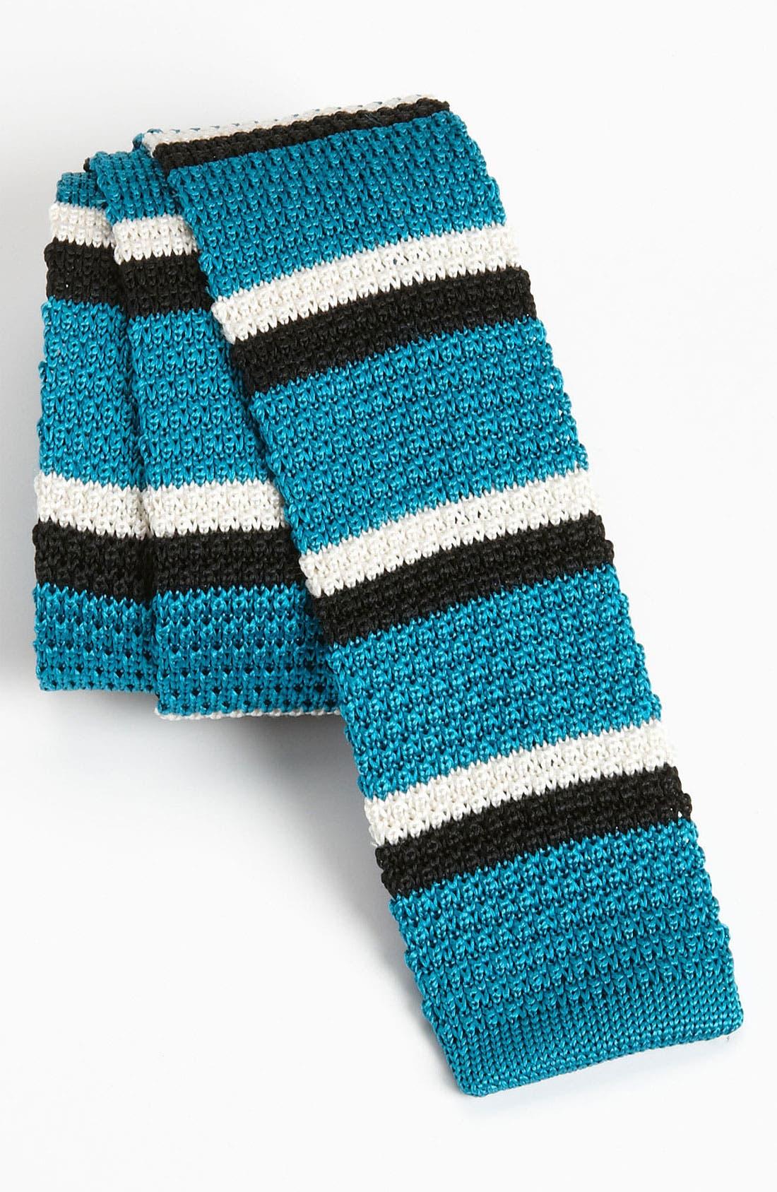 Main Image - The Tie Bar 'Next Stripe' Knit Tie (Online Only)