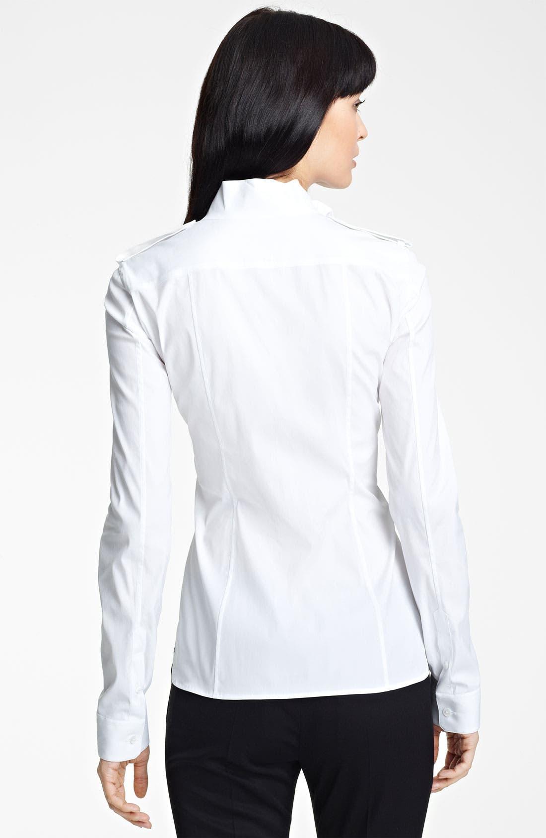 Alternate Image 2  - Burberry Prorsum Ruffled Collar Shirt