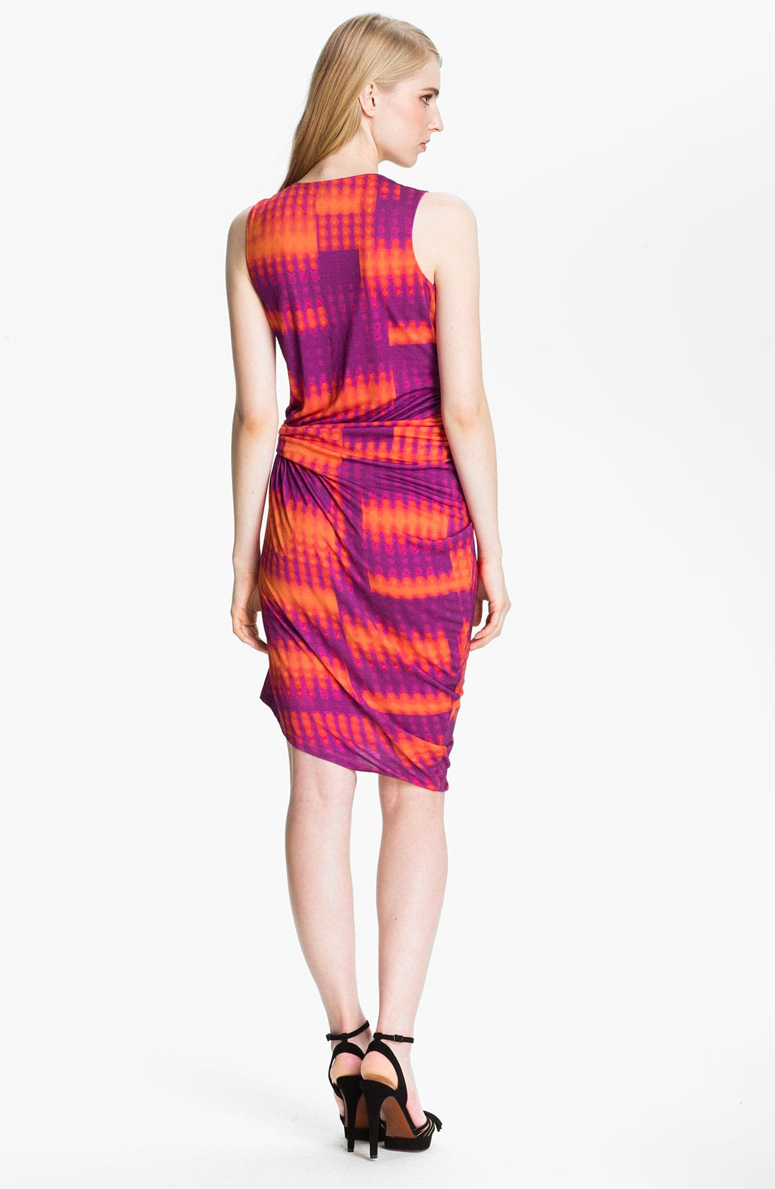 Alternate Image 2  - Halston Heritage Draped Jersey Knit Dress