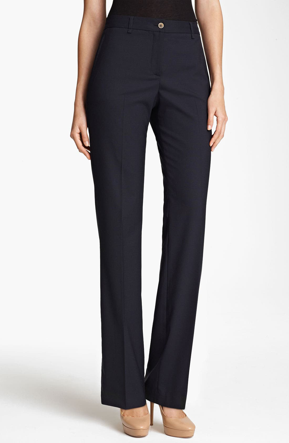 Alternate Image 1 Selected - Fabiana Filippi Narrow Leg Wool Pants