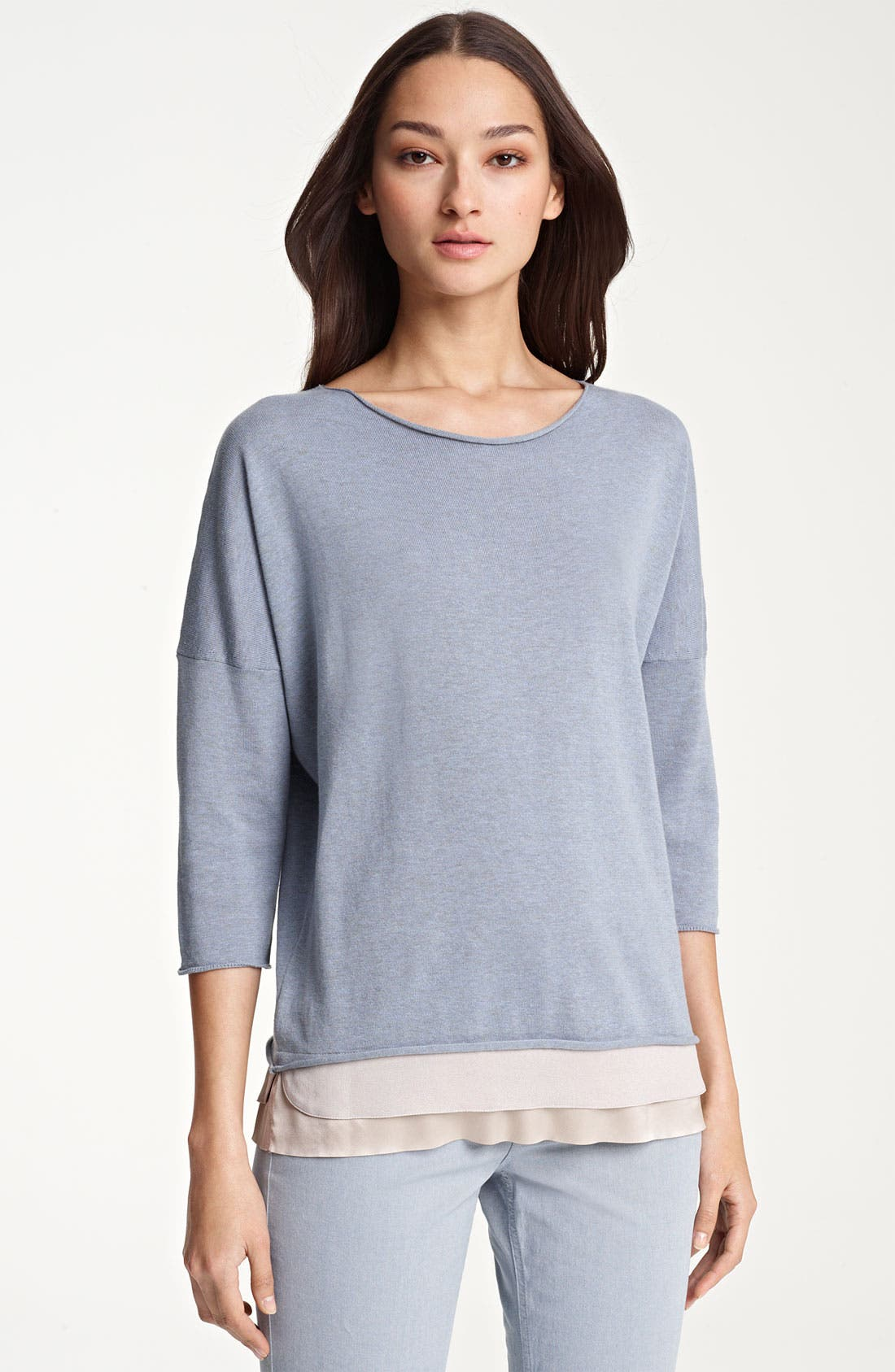 Main Image - Fabiana Filippi Crepe Hem Knit Top