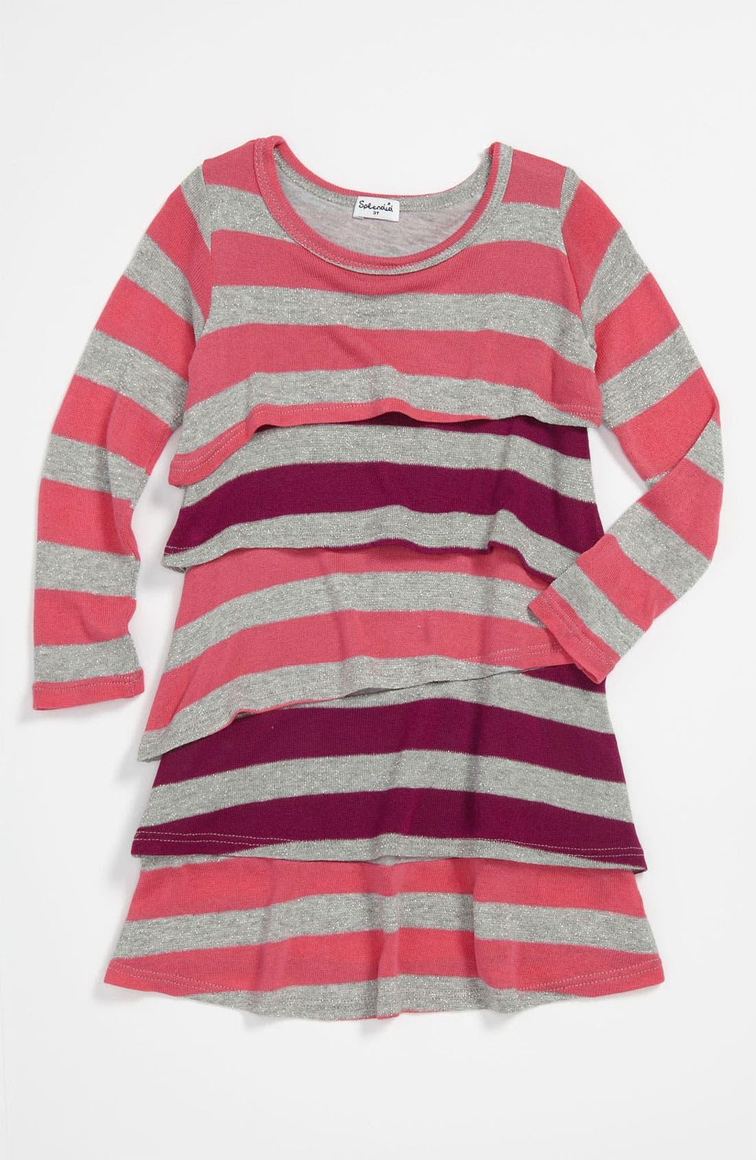 Alternate Image 1 Selected - Splendid Rugby Stripe Dress (Little Girls)