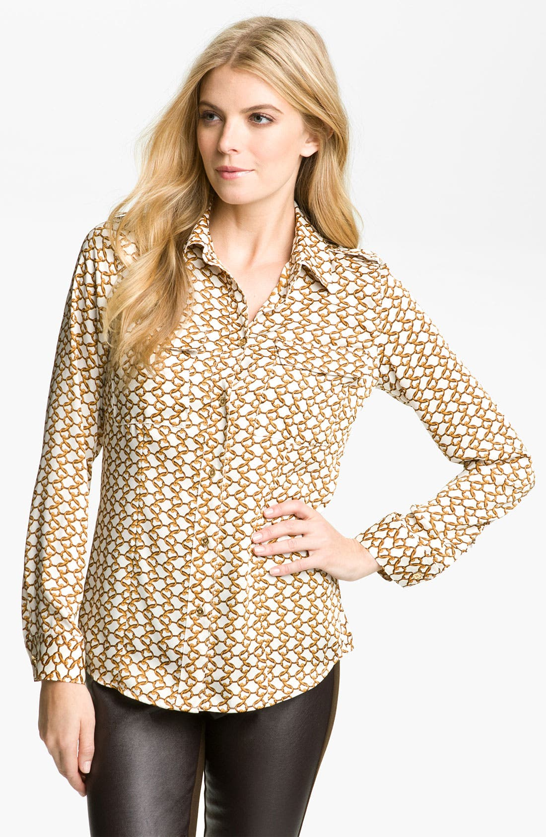 Alternate Image 1 Selected - MICHAEL Michael Kors Print Shirt (Petite)