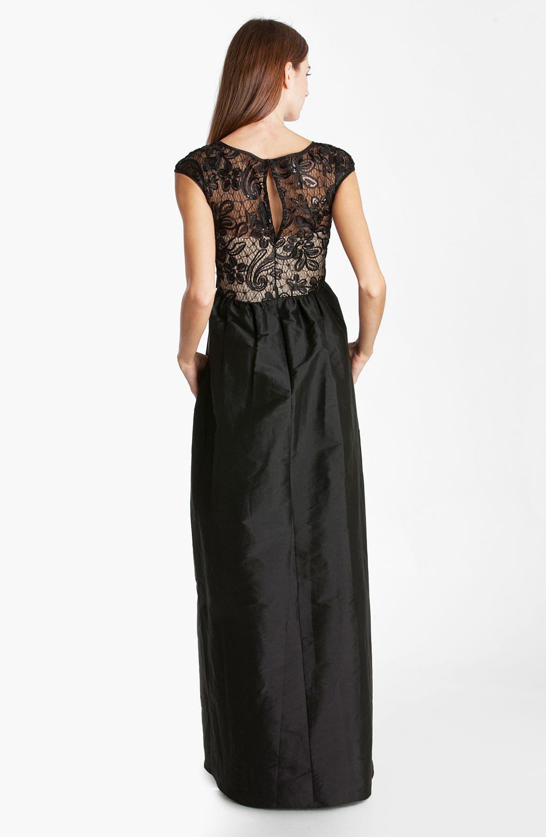 Alternate Image 2  - JS Boutique Lace & Taffeta Ballgown