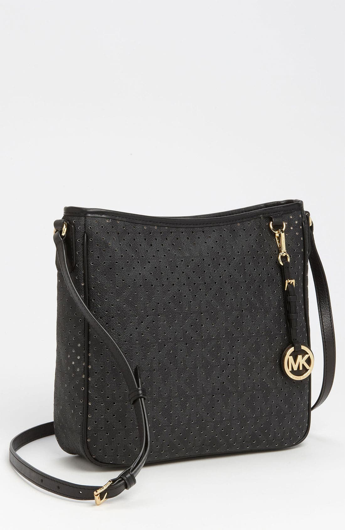Main Image - MICHAEL Michael Kors 'Signature - Large' Perforated Crossbody Bag