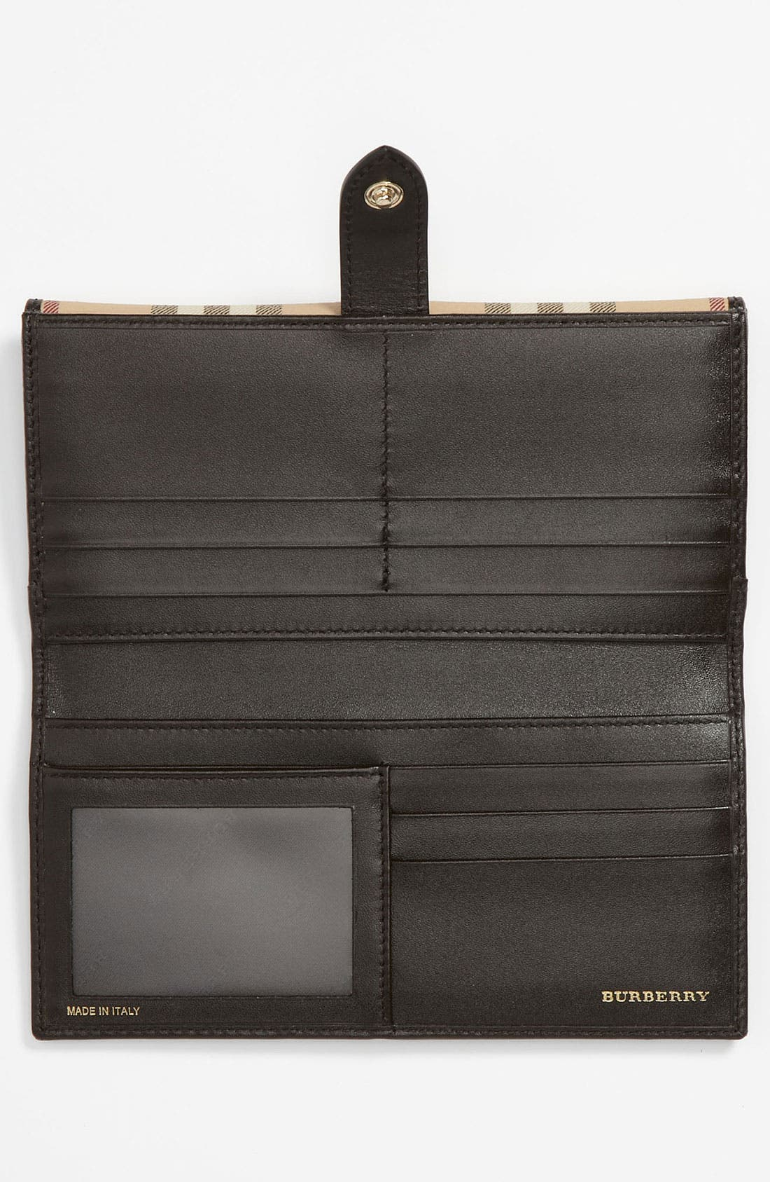 Alternate Image 3  - Burberry 'Haymarket Check' Checkbook Wallet