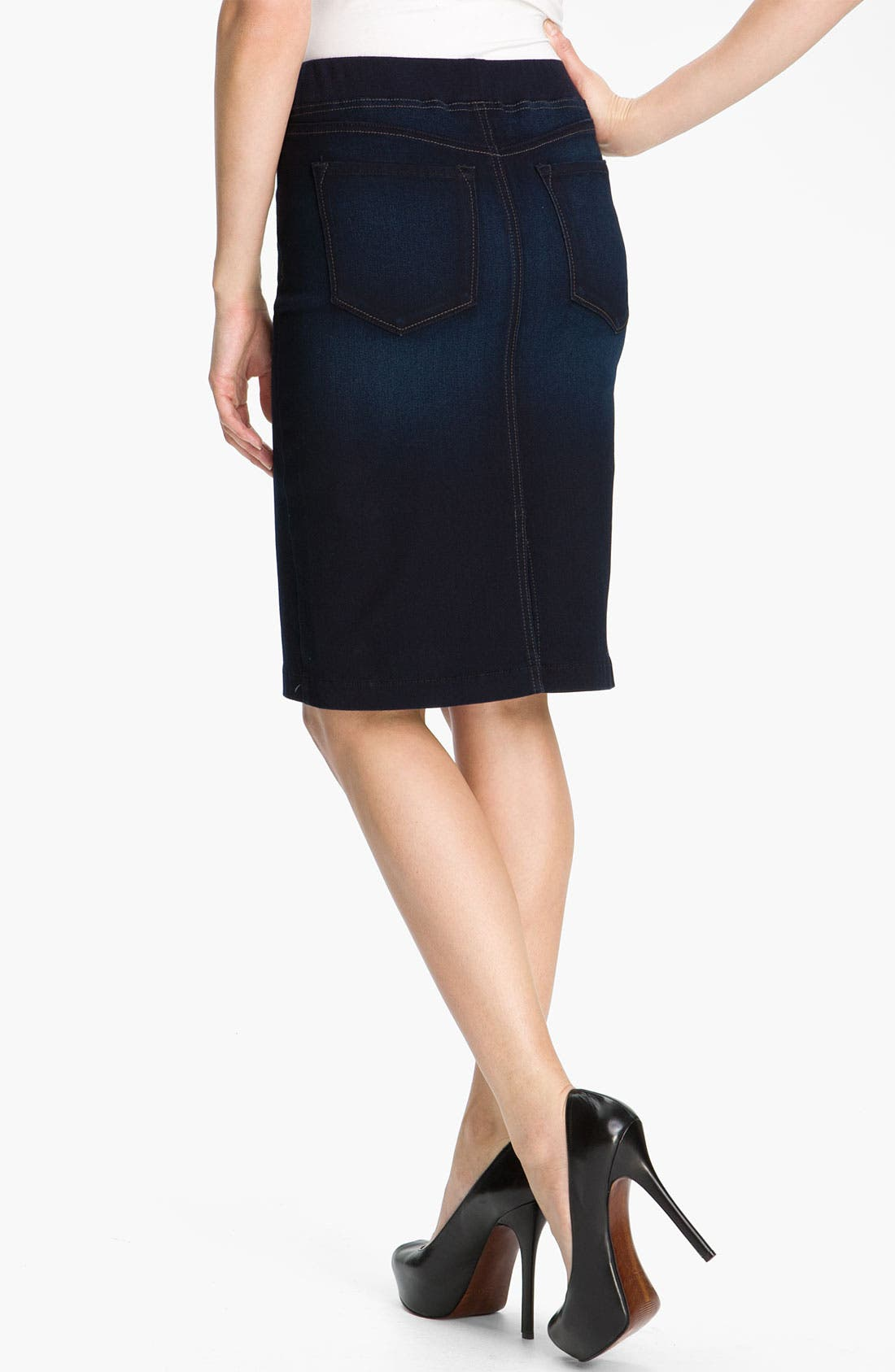 Alternate Image 2  - NYDJ 'Caitlyn' Pull-On Denim Skirt (Petite)