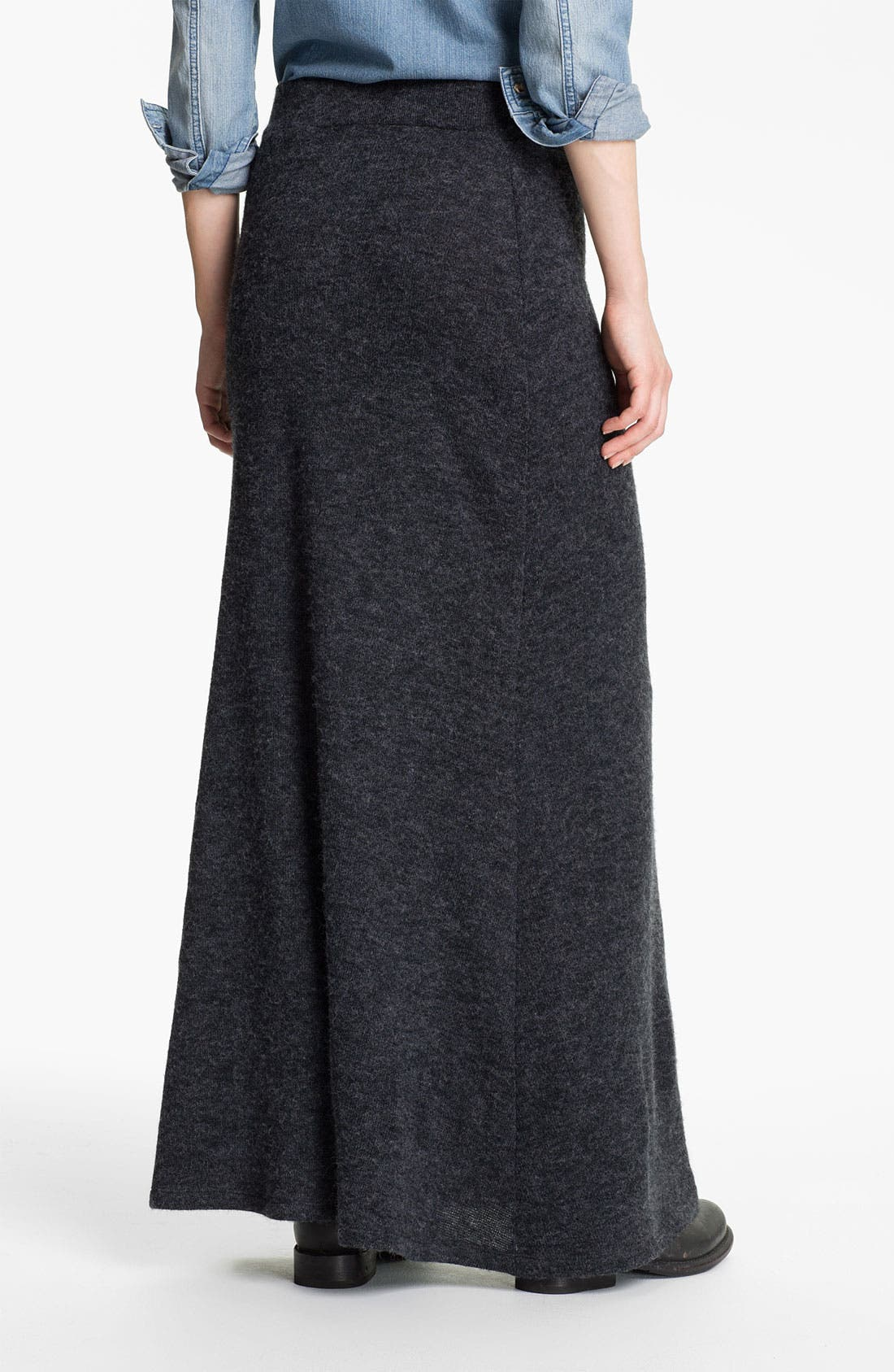 Alternate Image 2  - Lily White Knit Maxi Skirt (Juniors)