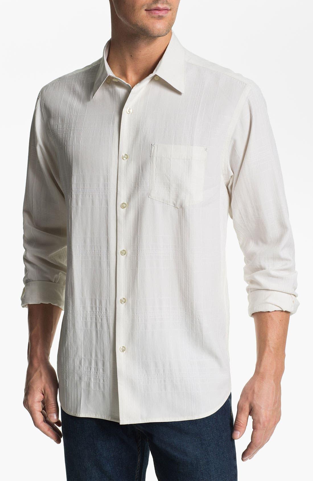 Main Image - Tommy Bahama 'Skyscraper' Silk Sport Shirt (Big & Tall)