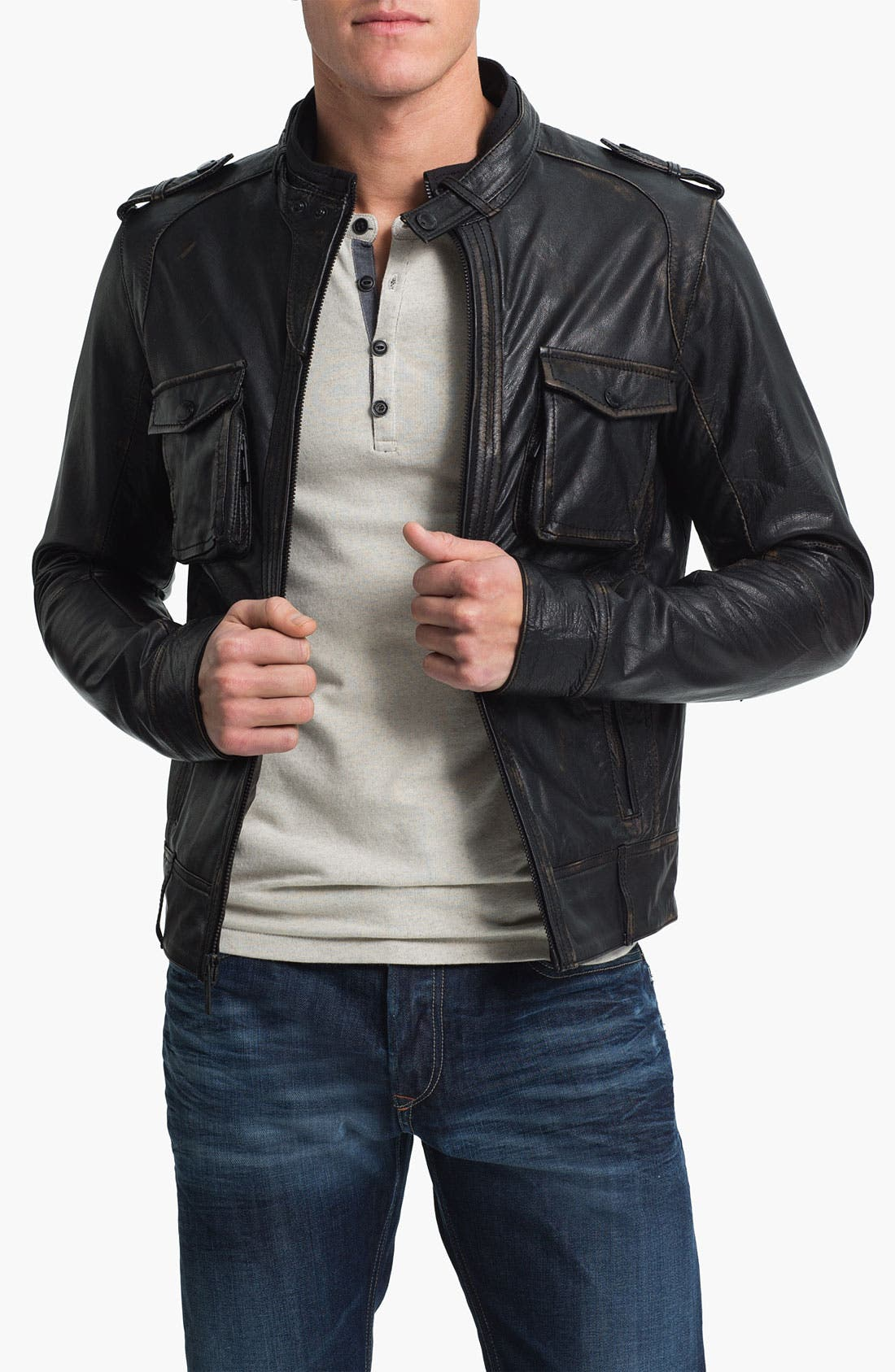 Alternate Image 1 Selected - Rogue Leather Moto Jacket