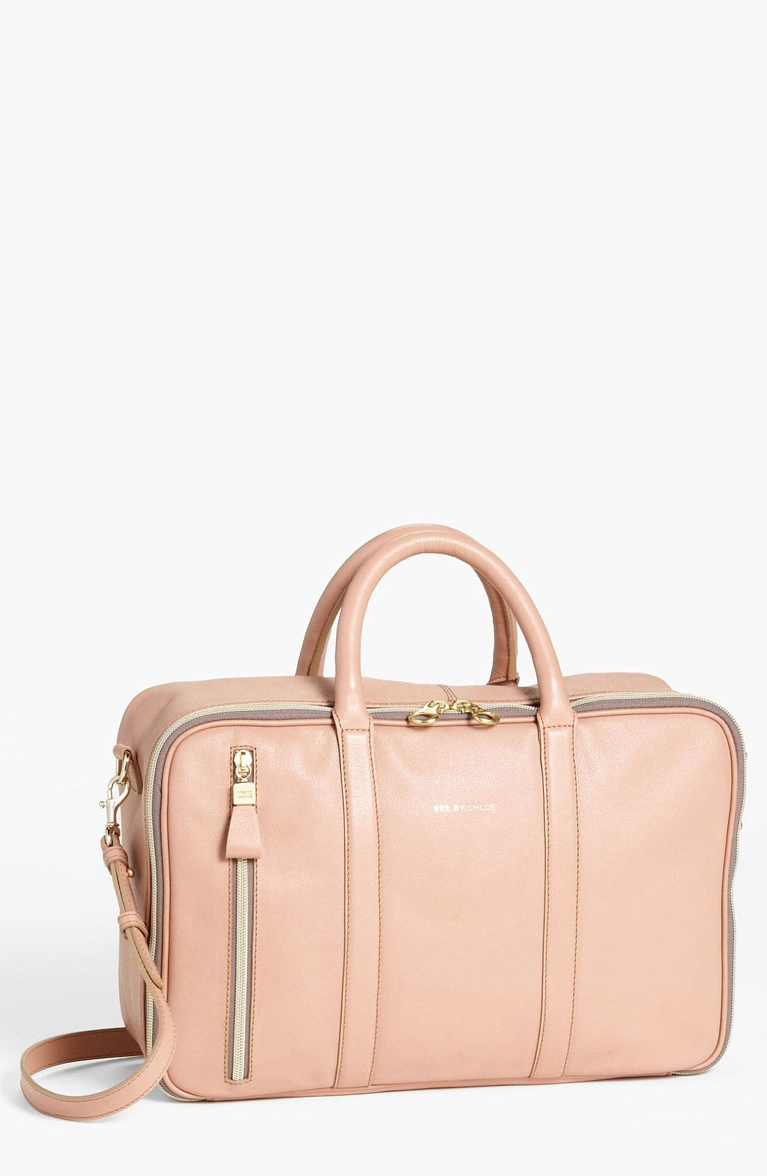 Alternate Image 1 Selected - See by Chloé 'Harriet - 24 Hour' Leather Duffel