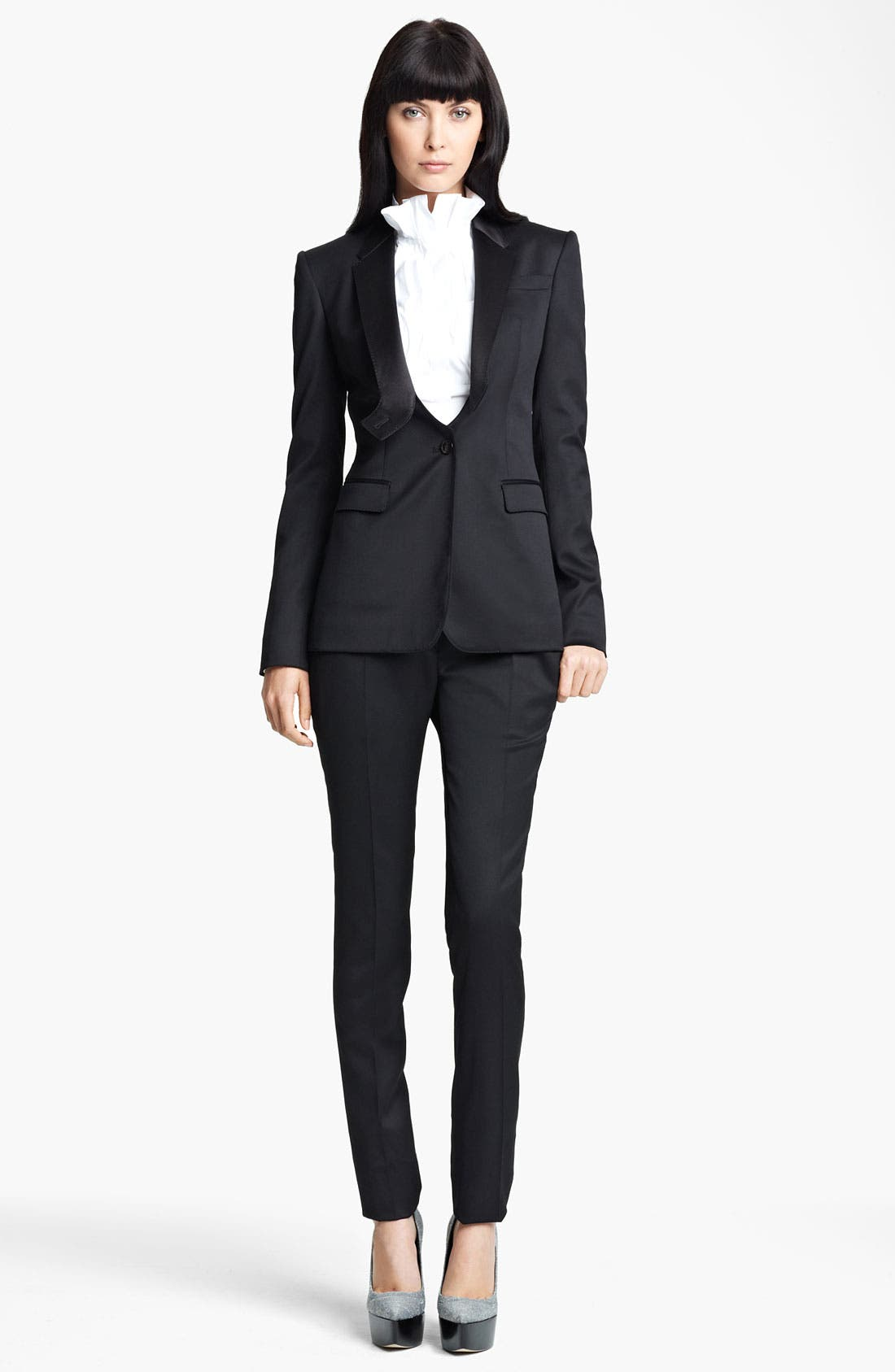 Alternate Image 4  - Burberry Prorsum Stretch Wool Tuxedo Jacket