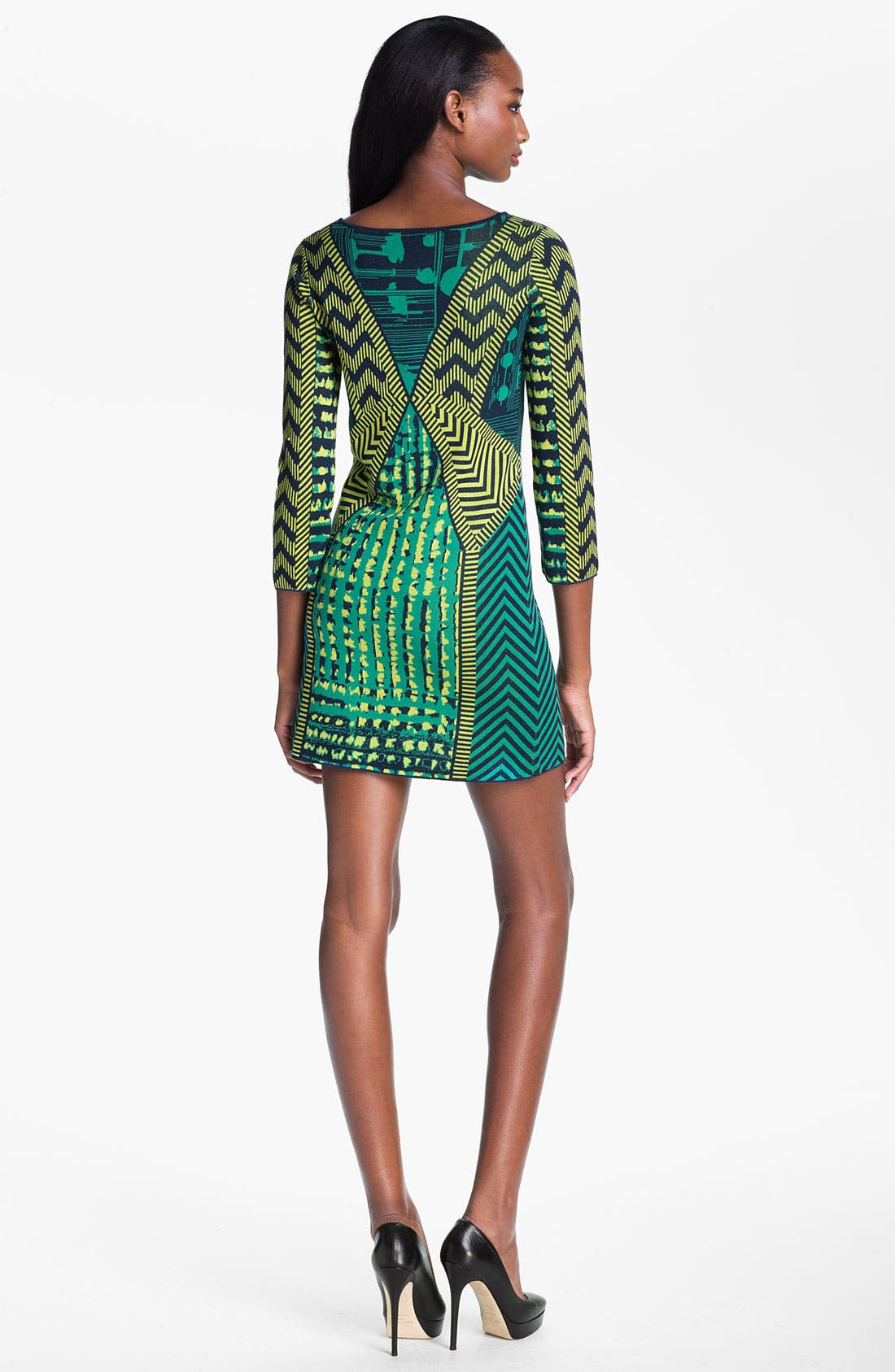 Alternate Image 2  - BCBGMAXAZRIA 'Yuna' Silk Blend Sweater Dress