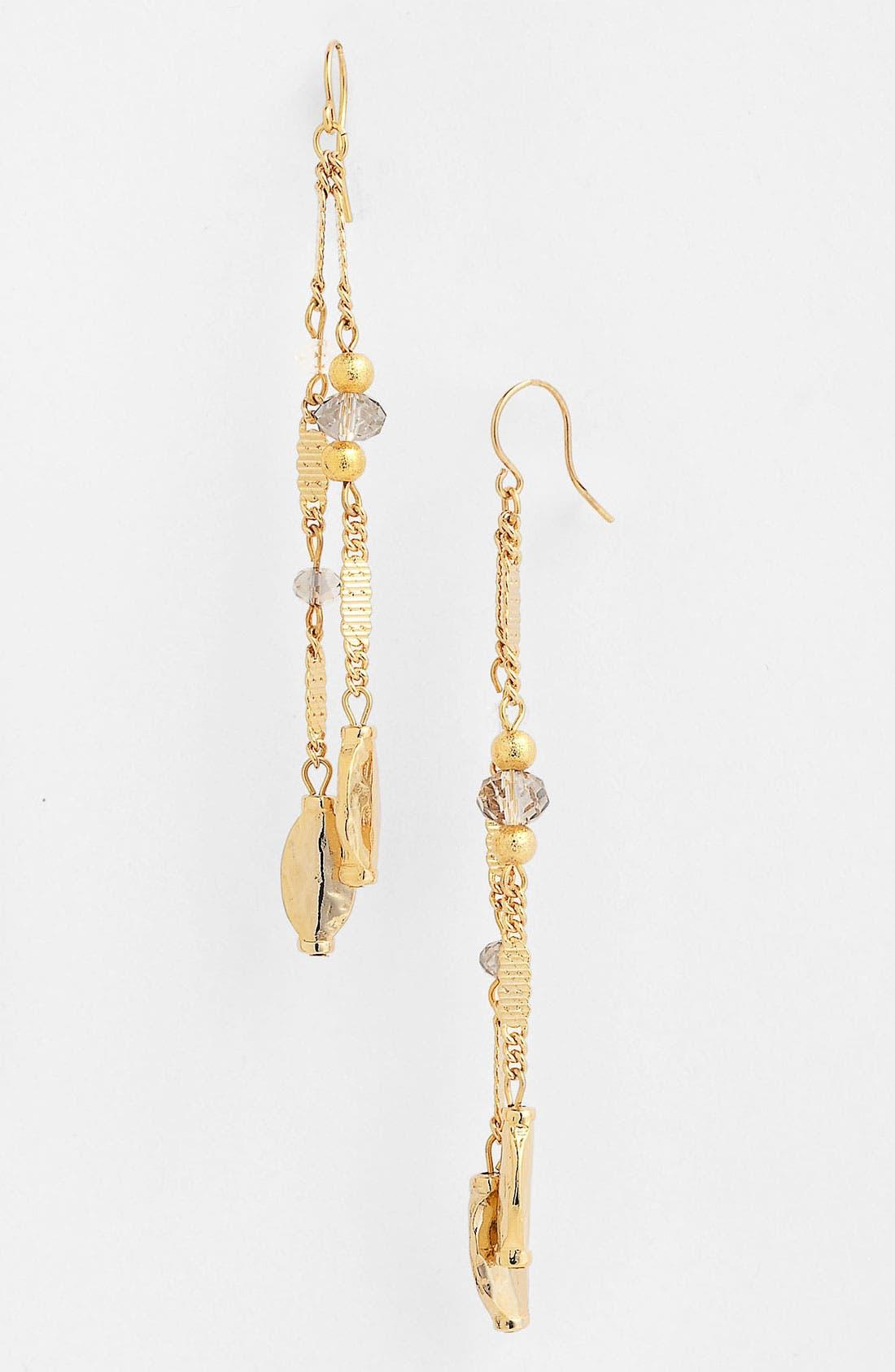 Alternate Image 1 Selected - Nordstrom 'Sand Dollar' Linear Earrings
