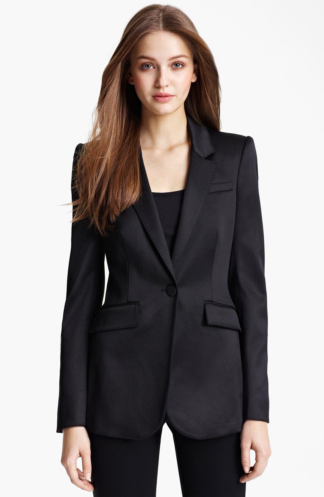 Main Image - Burberry London Satin Tuxedo Jacket