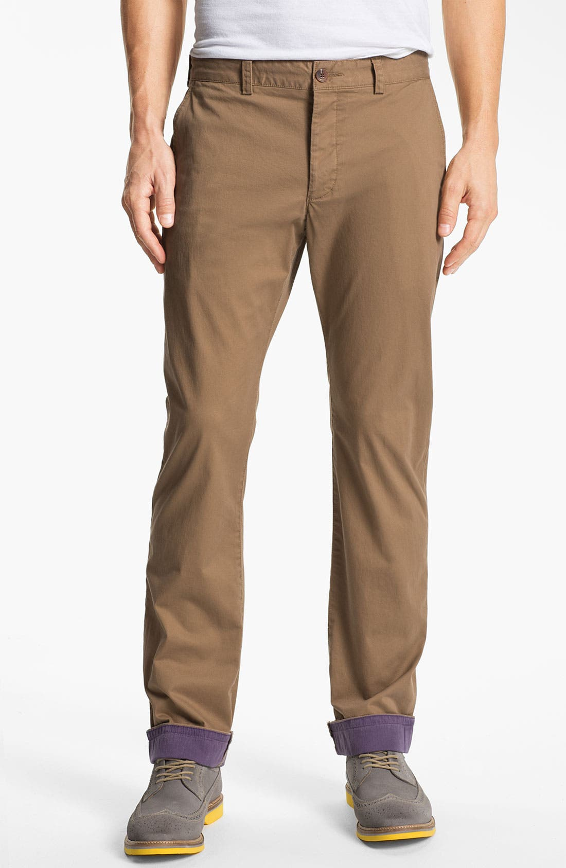 Alternate Image 1 Selected - French Connection Flat Front Chinos