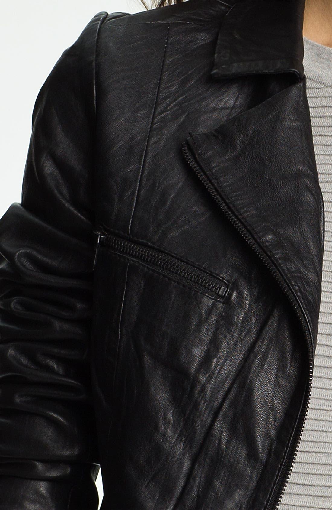 Alternate Image 3  - Paige Denim 'Ridley' Leather Biker Jacket