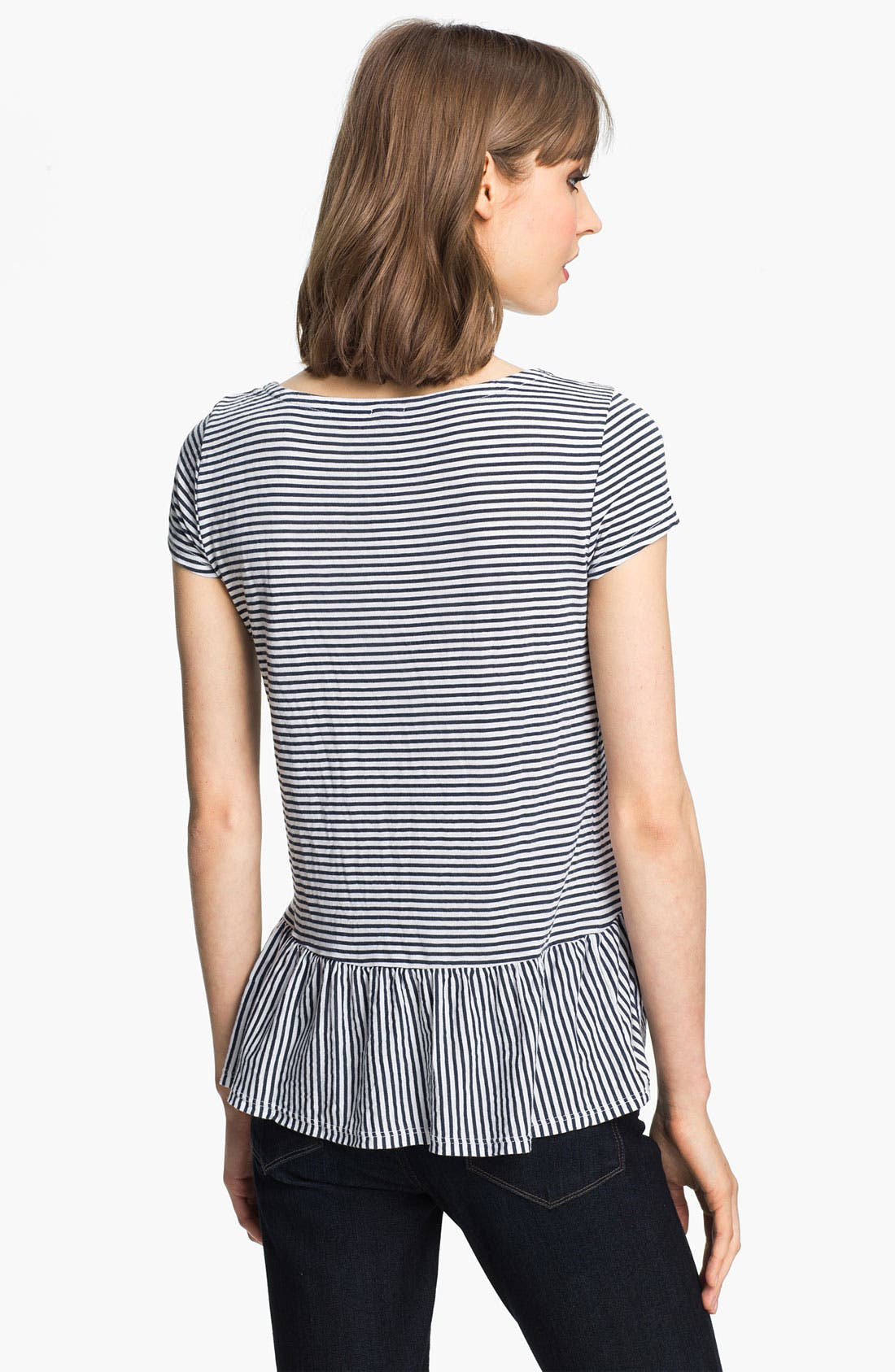 Alternate Image 2  - Splendid 'Naples' Stripe Peplum Tee