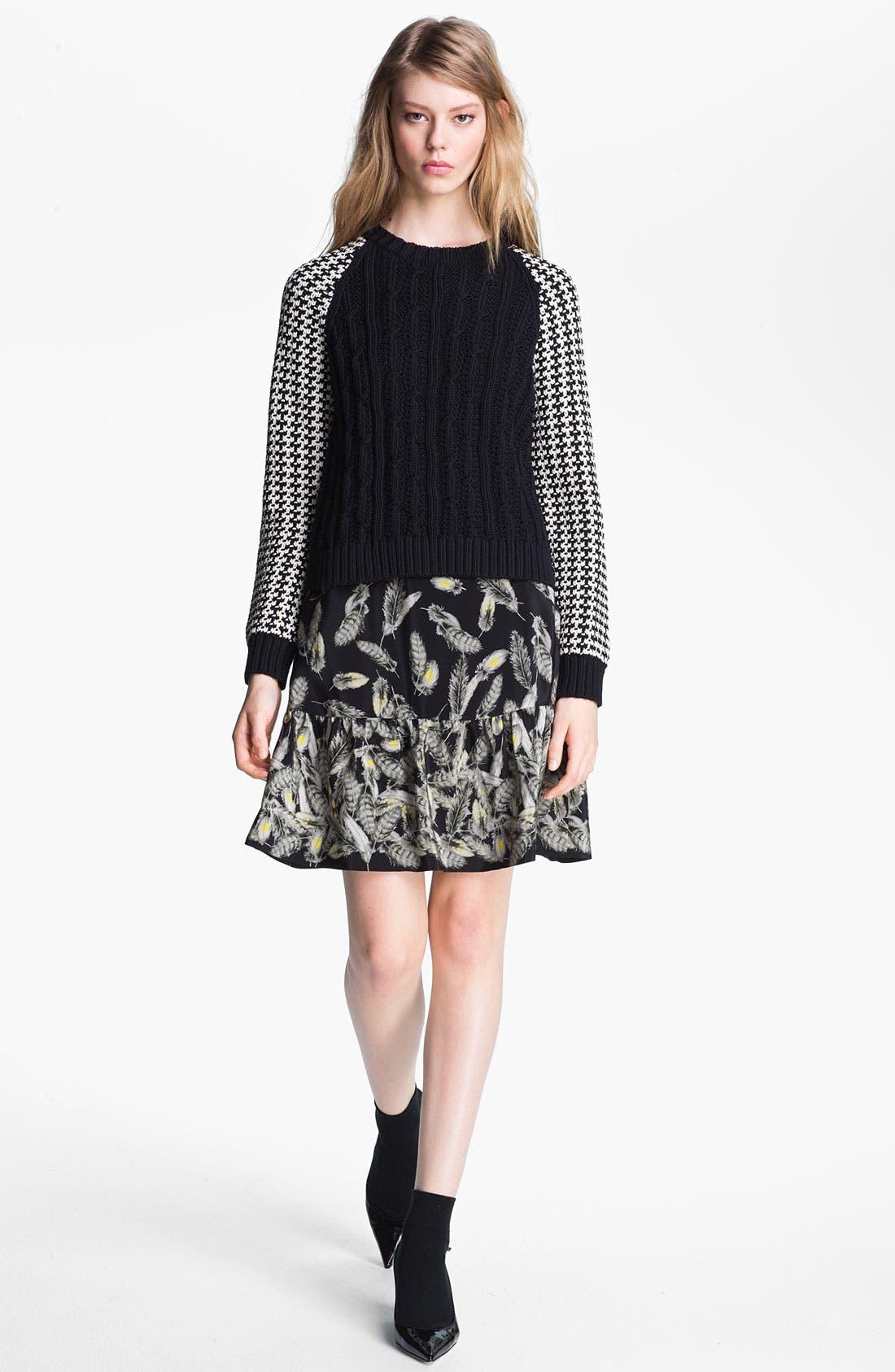 Alternate Image 1 Selected - Miss Wu Contrast Sleeve Sweater (Nordstrom Exclusive)
