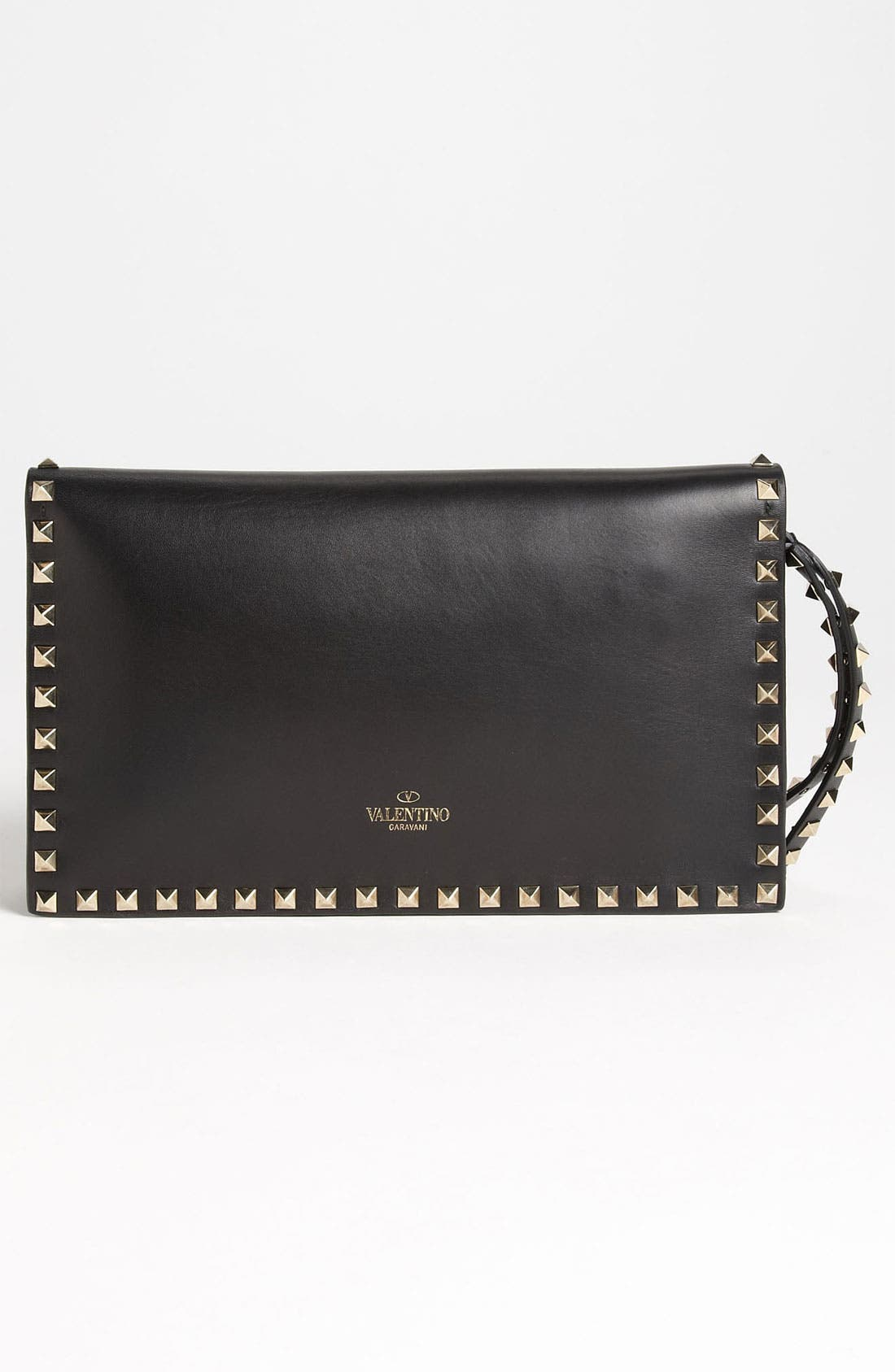 Alternate Image 4  - Valentino 'Rockstud' Nappa Leather Flap Clutch