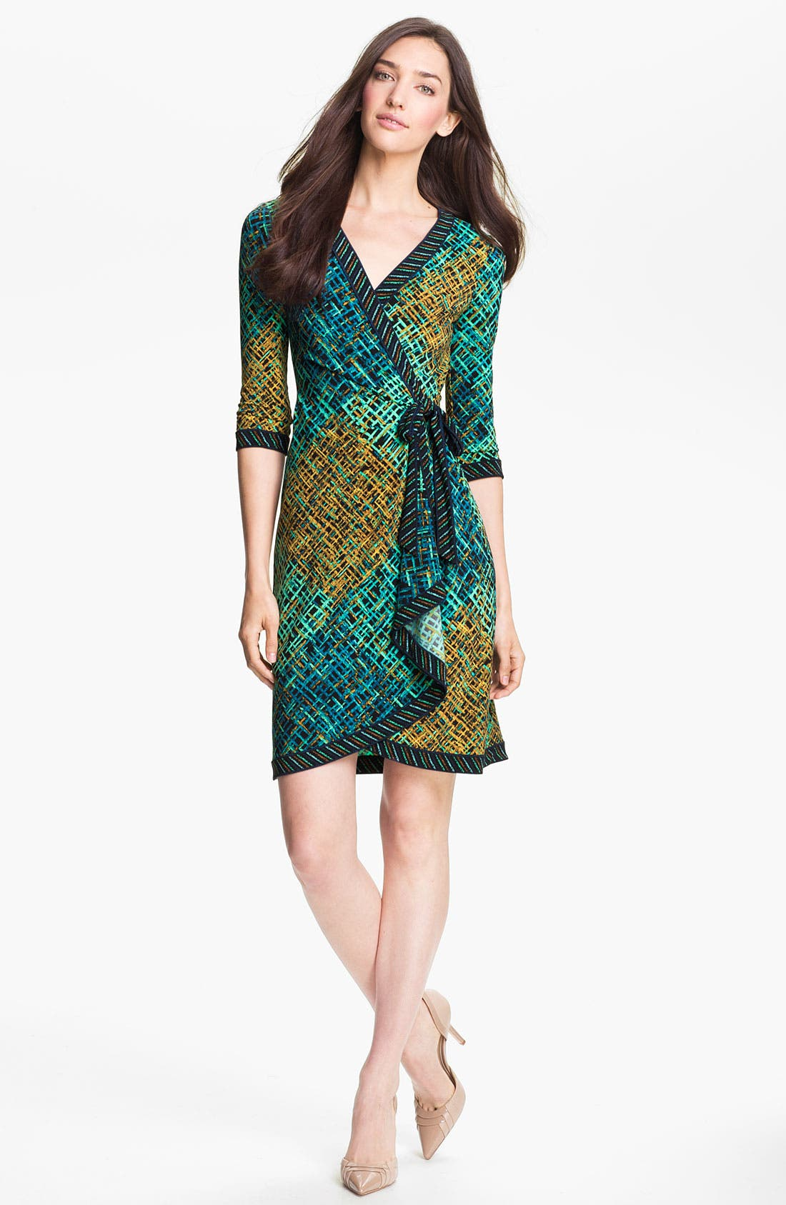 Alternate Image 1 Selected - BCBGMAXAZRIA Print Jersey Wrap Dress