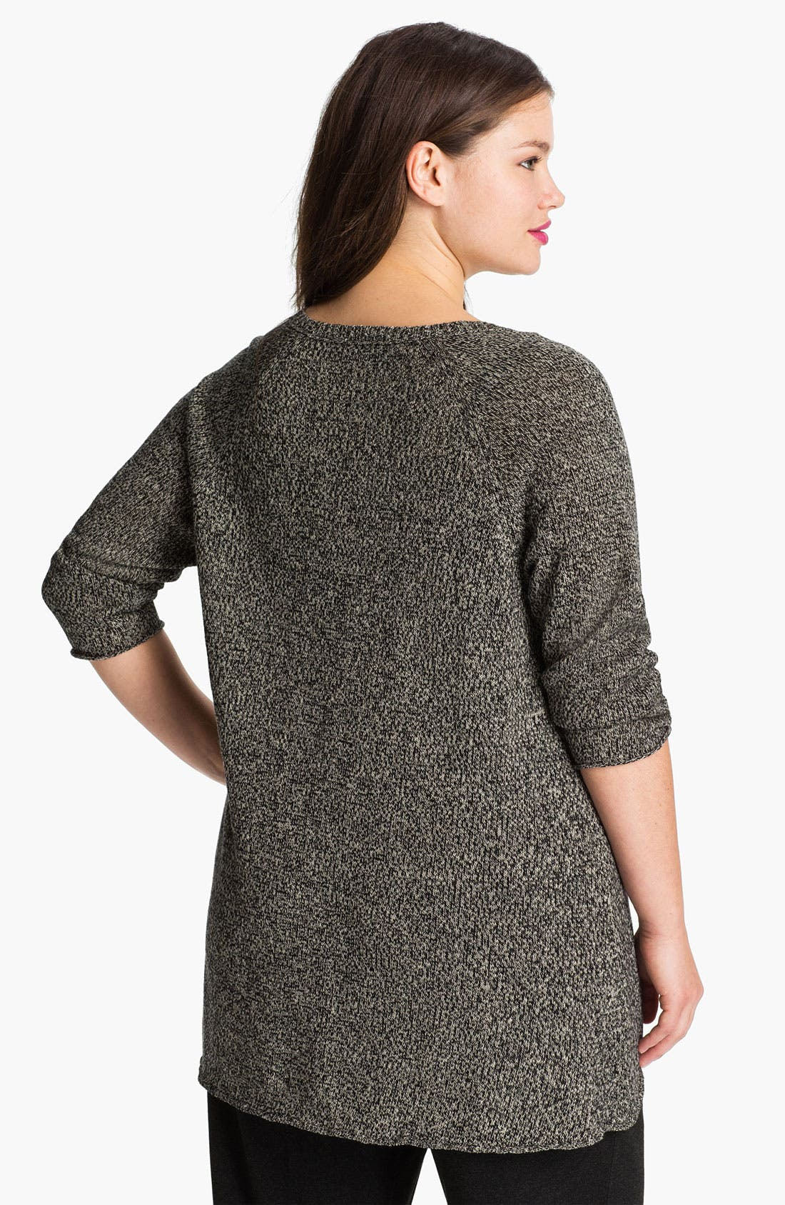 Alternate Image 2  - Eileen Fisher V-Neck Sweater (Plus)