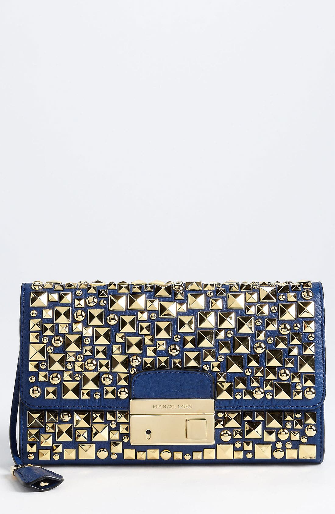 Main Image - Michael Kors 'Gia' Studded Leather Clutch