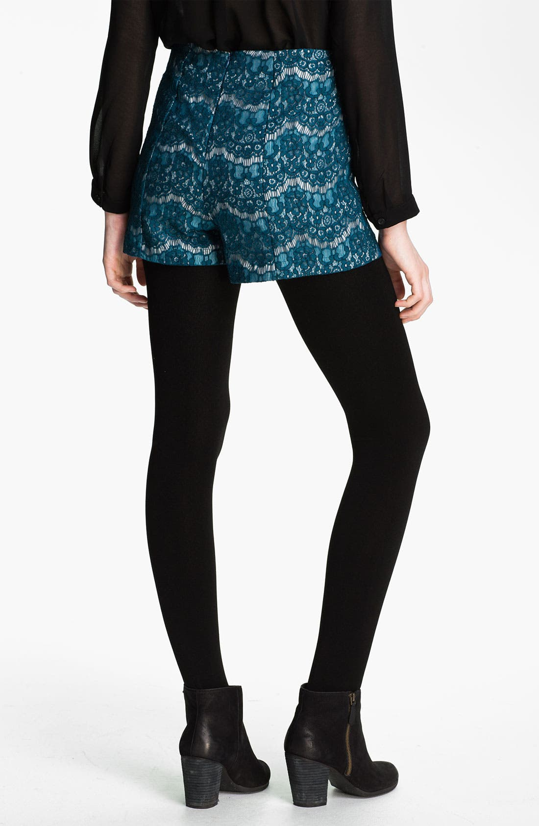 Alternate Image 2  - Lily White High Waist Shorts (Juniors)