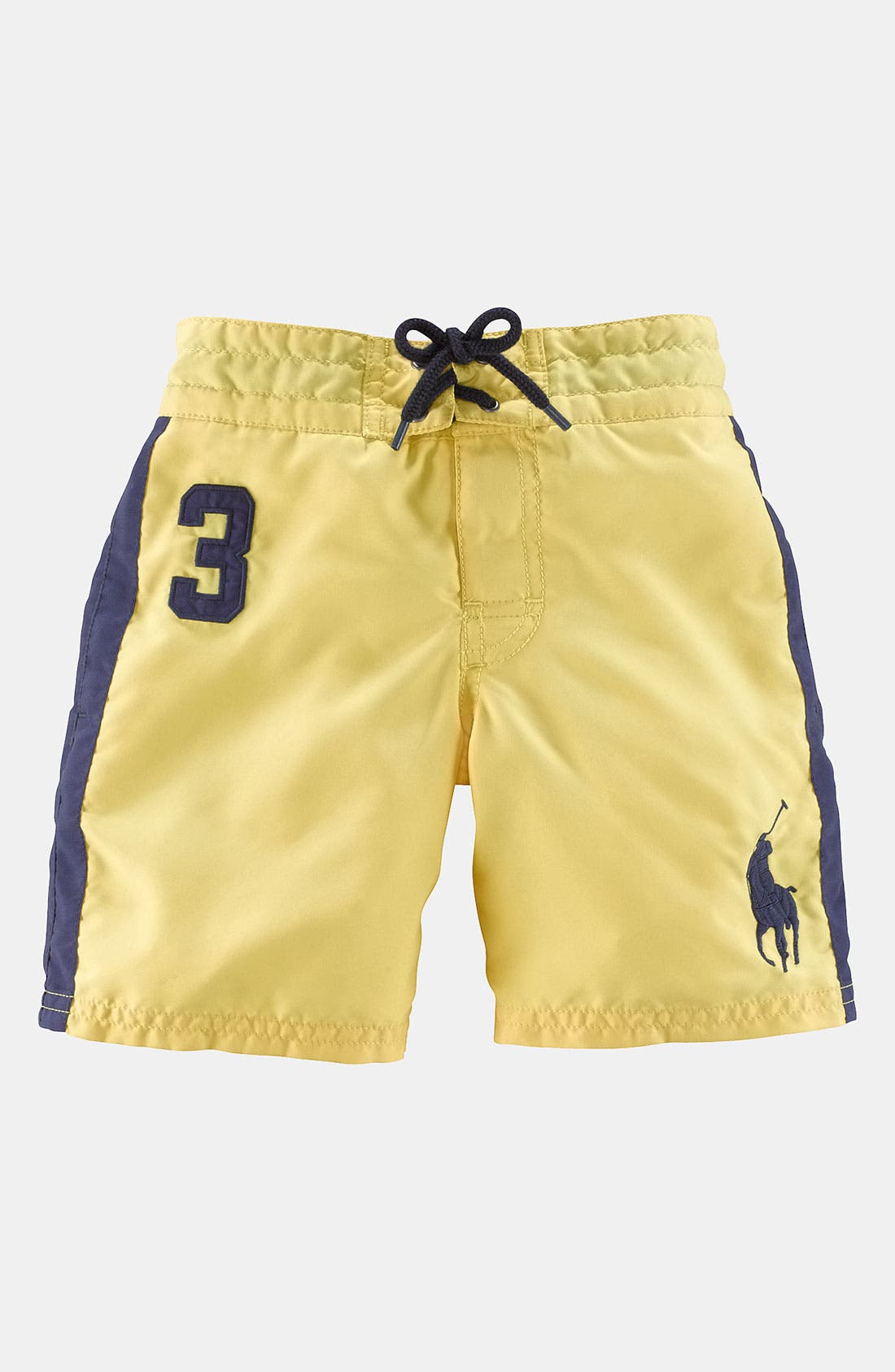 Main Image - Ralph Lauren Woven Cotton Swim Trunks (Toddler)